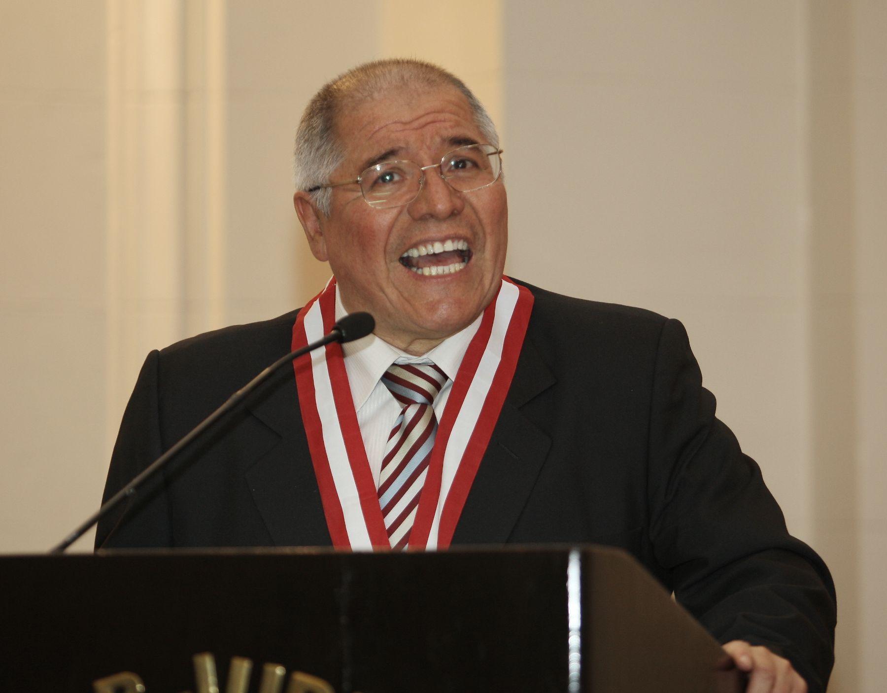 Juez Supremo, César San Martin Castro, magistrado Coordinador del V Pleno Jurisdiccional Penal. Foto: ANDINA/Norman Córdova