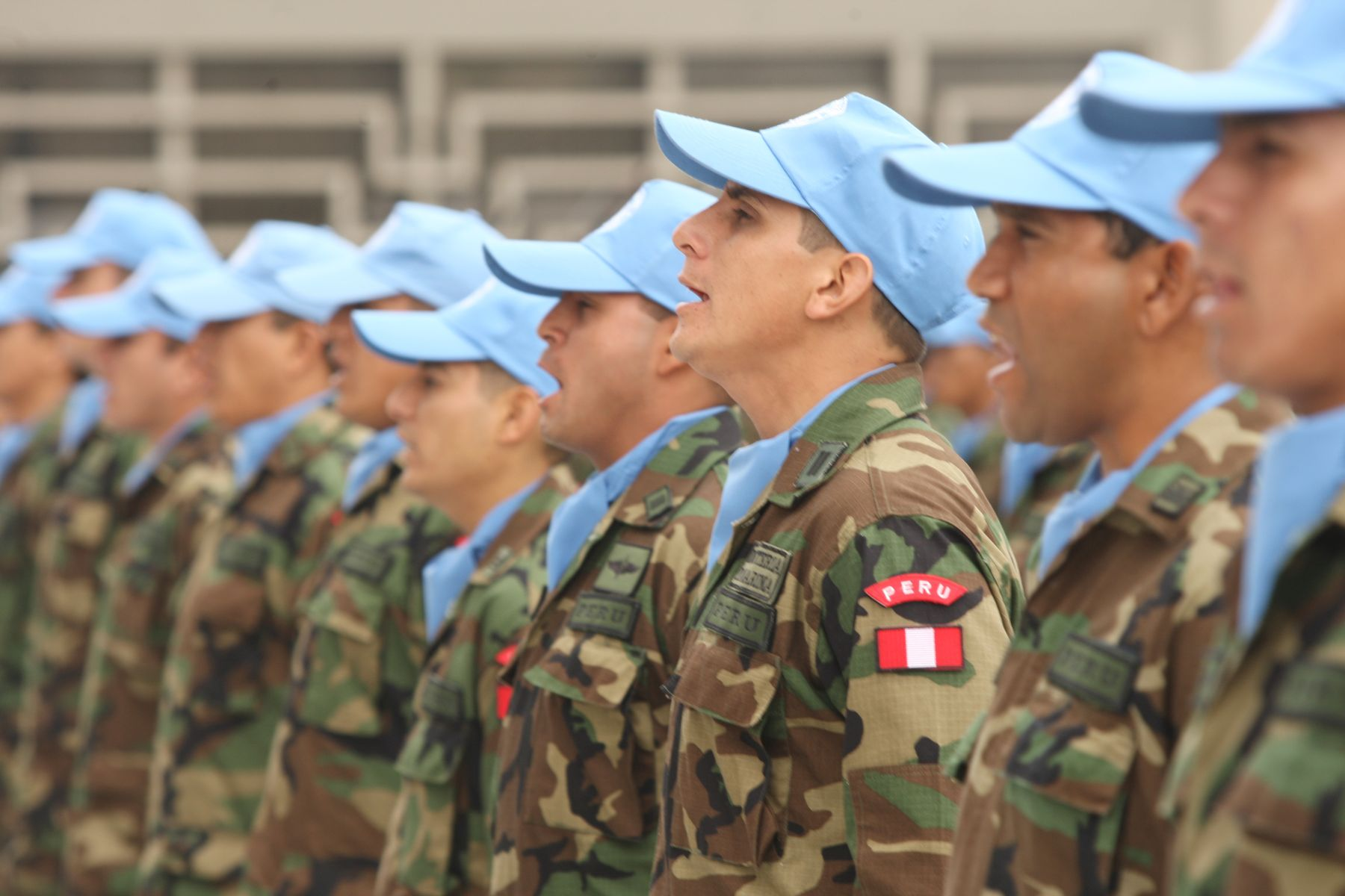 """Contingente de """"Cascos Azules"""" de las Fuerzas Armadas. Foto: ANDINA/Archivo"""