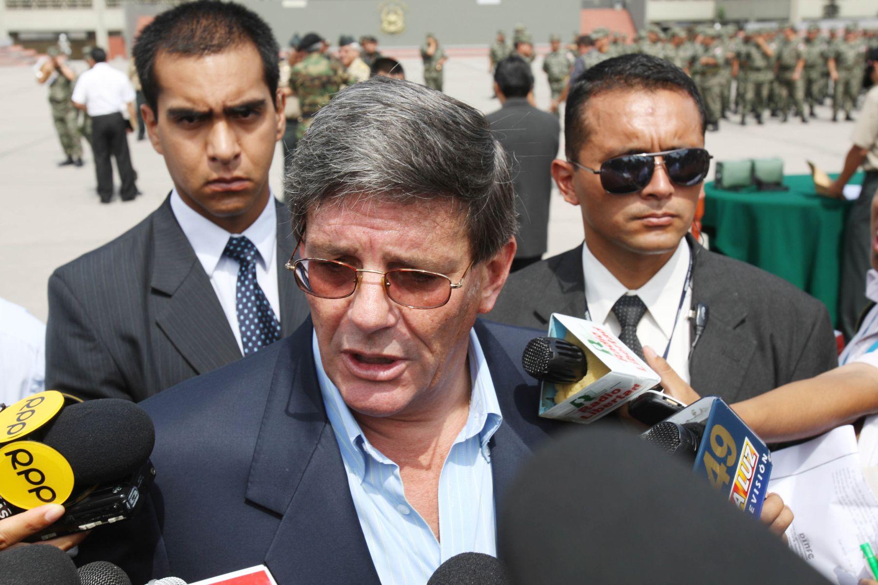 Ministro de Defensa, Rafael Rey. Foto: ANDINA/Norman Córdova.