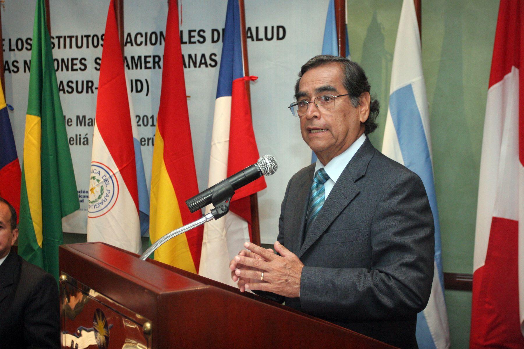 Ministro de Salud, Óscar Ugarte. Foto: ANDINA/Archivo.