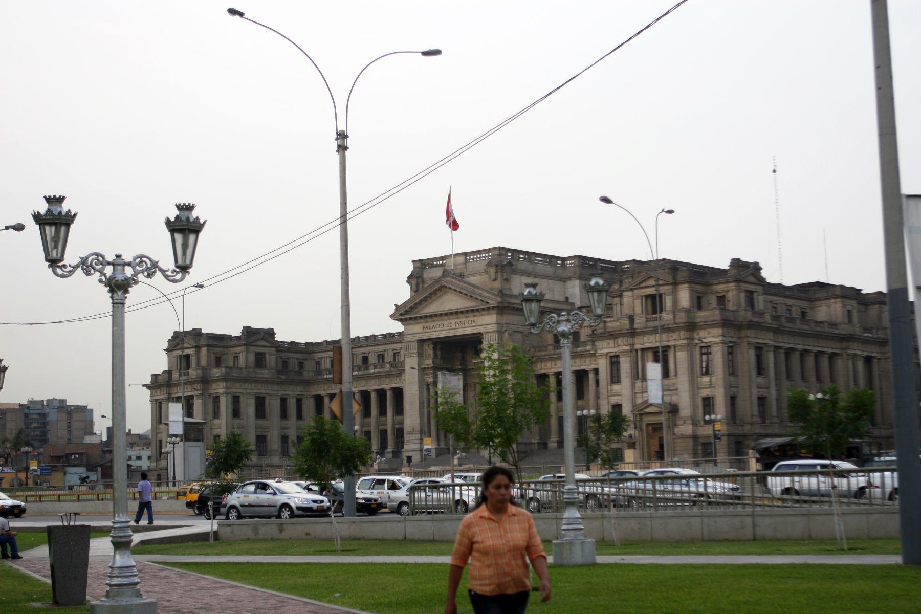 Palacio de Justicia. Foto: ANDINA/Héctor Vinces/Archivo