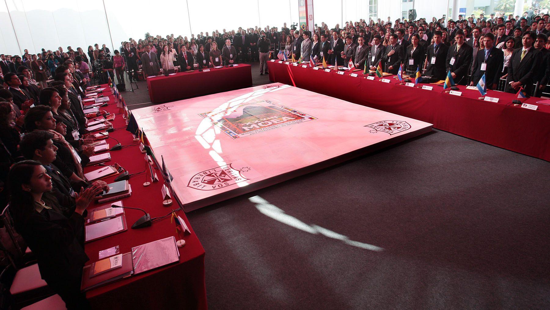 Inauguración del 28 Modelo de la Asamblea General de la Organización de Estados Americanos (MOEA), Foto: ANDINA/Carlos Lezama