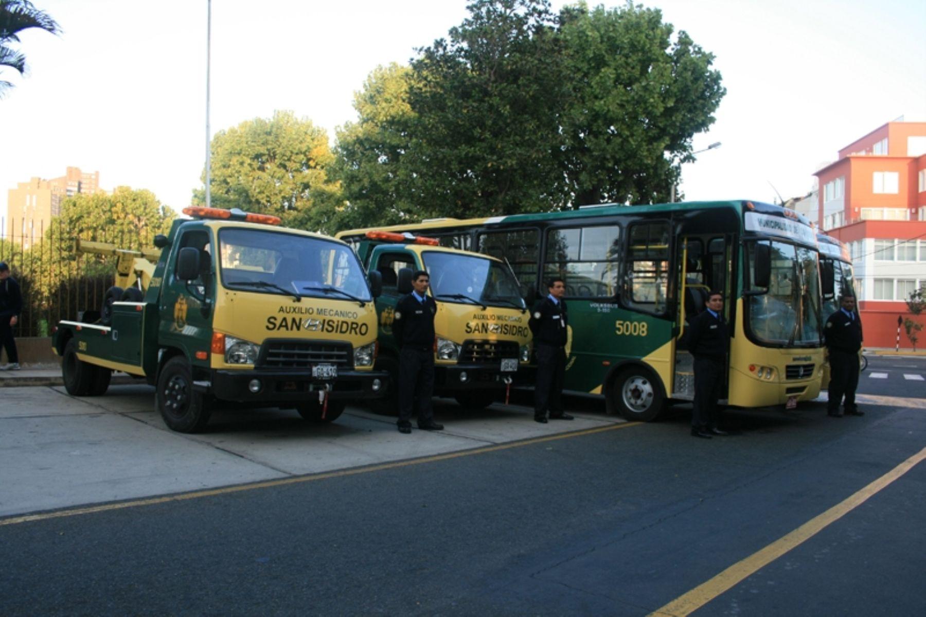 Nueva flota vehicular adquirida por Municipalidad de San Isidro. Foto: Municipalidad de San Isidro