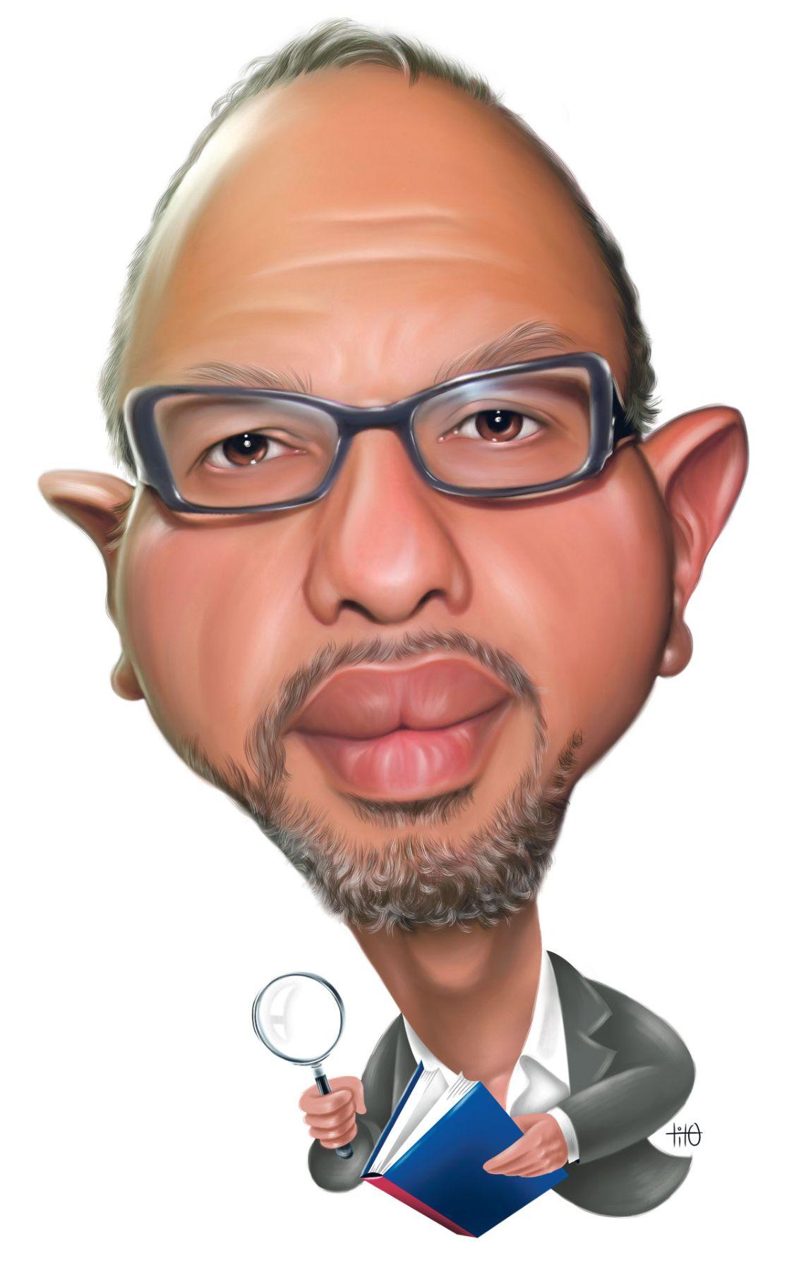 Hugo Coya. Caricatura: Tito Piqué