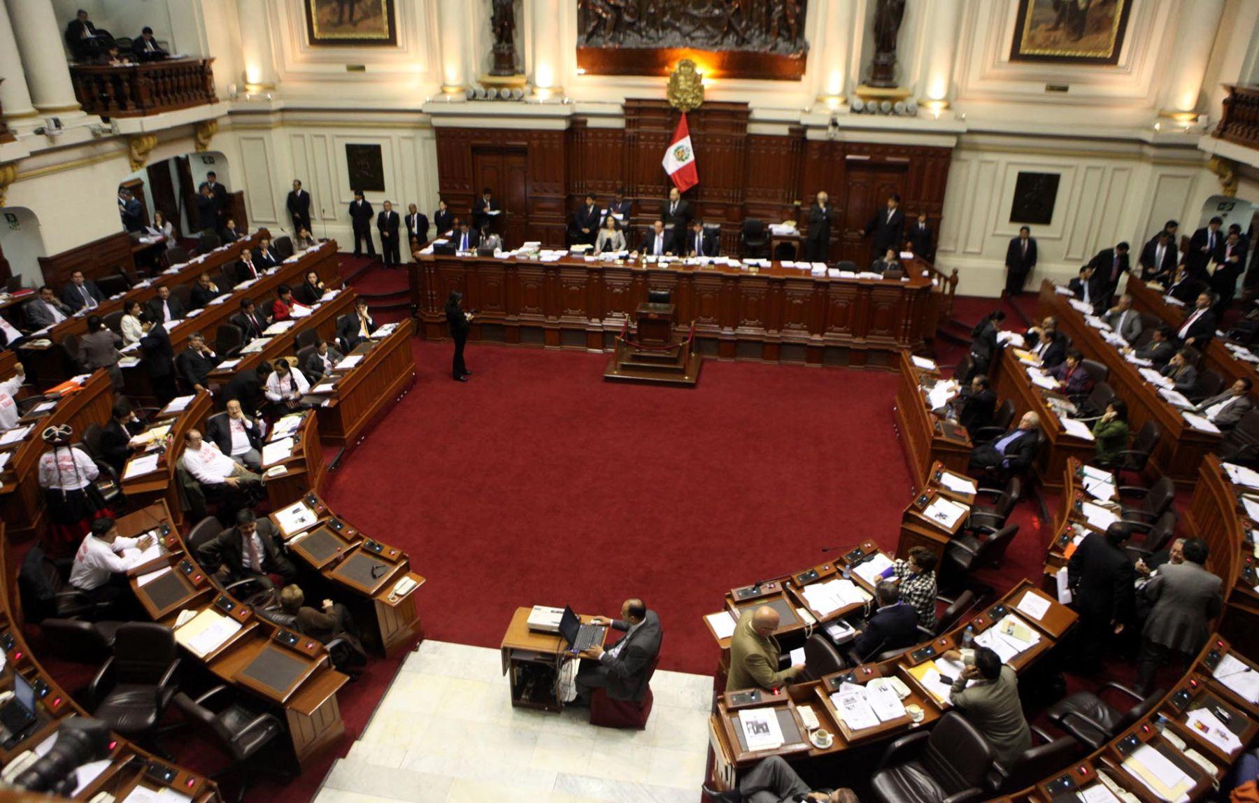 Pleno del Congreso de la República. Foto: ANDINA/Alberto Orbegoso.
