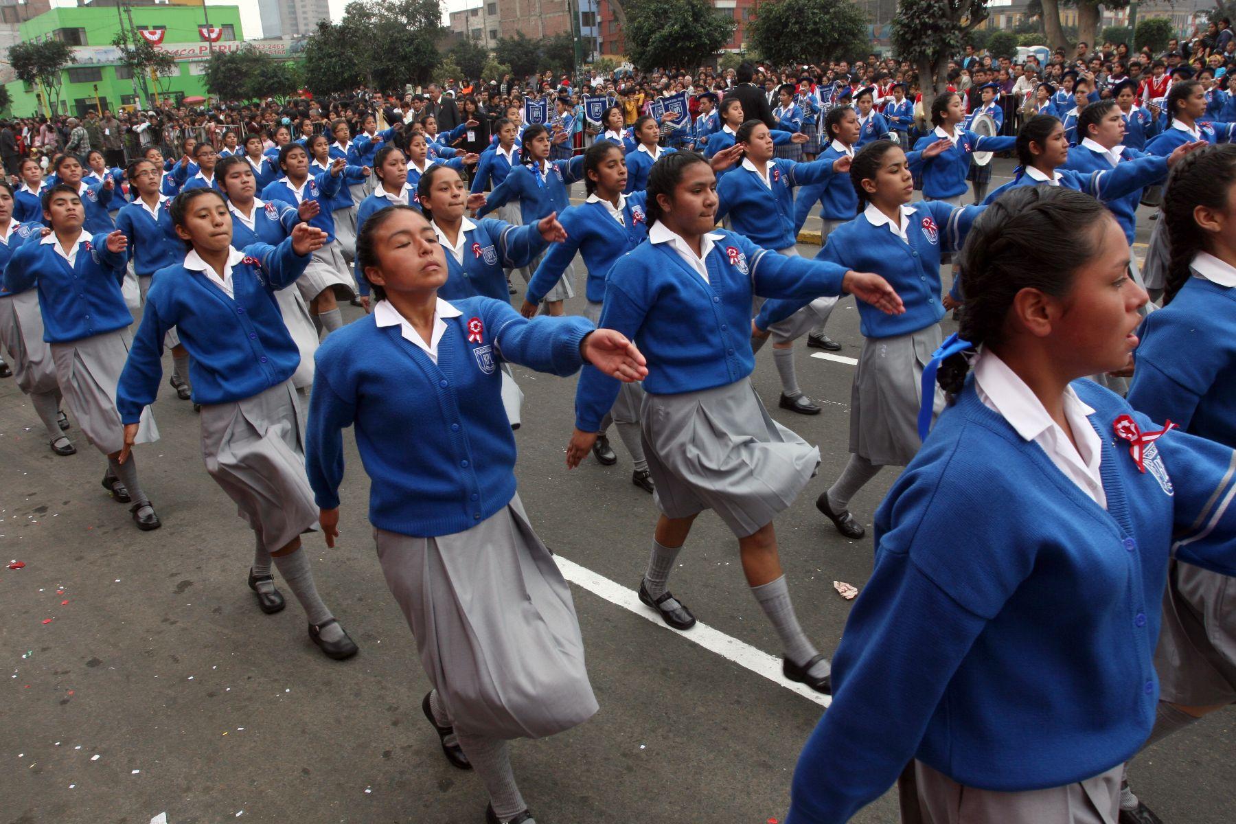 Desfile civico-patriotico escolar. Foto: ANDINA/ Rocío Farfán/Archivo