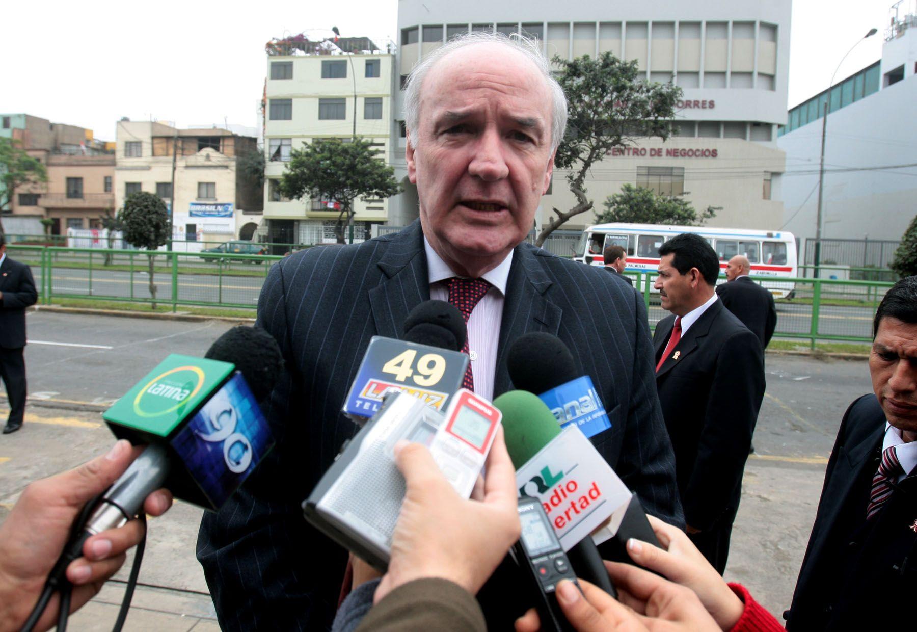 El canciller José Antonio García Belaúnde. Foto: ANDINA/ Juan Carlos Guzmán Negrini.