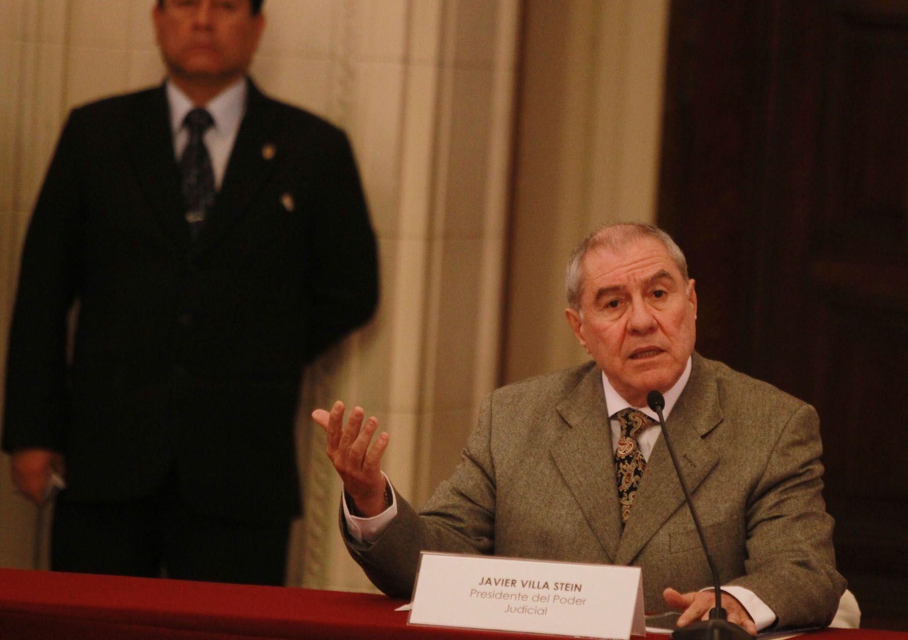 El presidente del Poder Judicial, Javier Villa Stein. Foto: ANDINA / Archivo / Carlos Lezama.