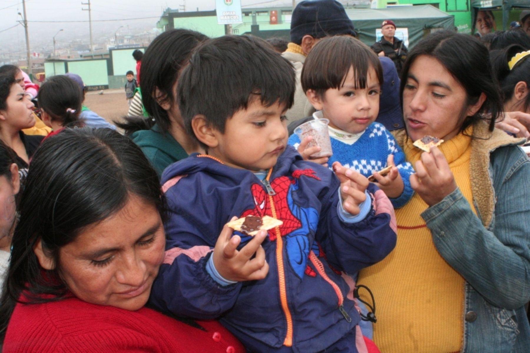 Unicef  destaca los esfuerzos que se están realizando para reducir la anemia entre la población infantil de nuestro país.ANDINA/Difusión