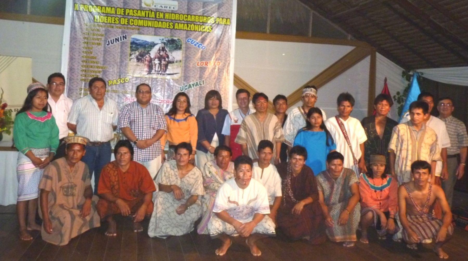 Líderes las comunidades amazónicas participan en pasantía en hidrocarburos en la ciudad de Pucallpa (Ucayali). Foto: MEM.