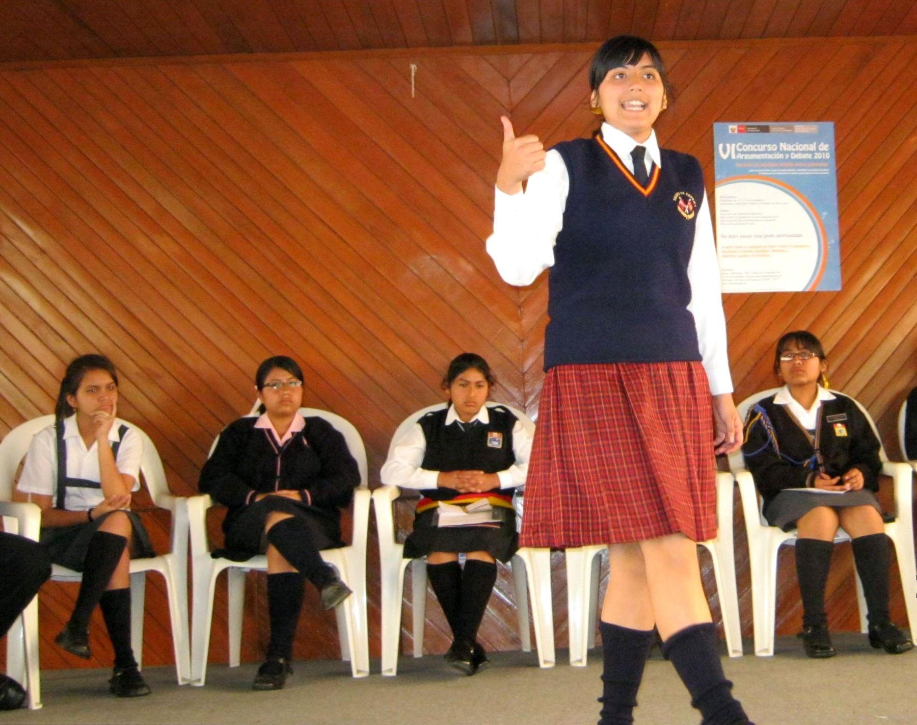 Minedu convoca a concursos nacionales de argumentación, debate y redacción. Foto: ANDINA/Difusión.