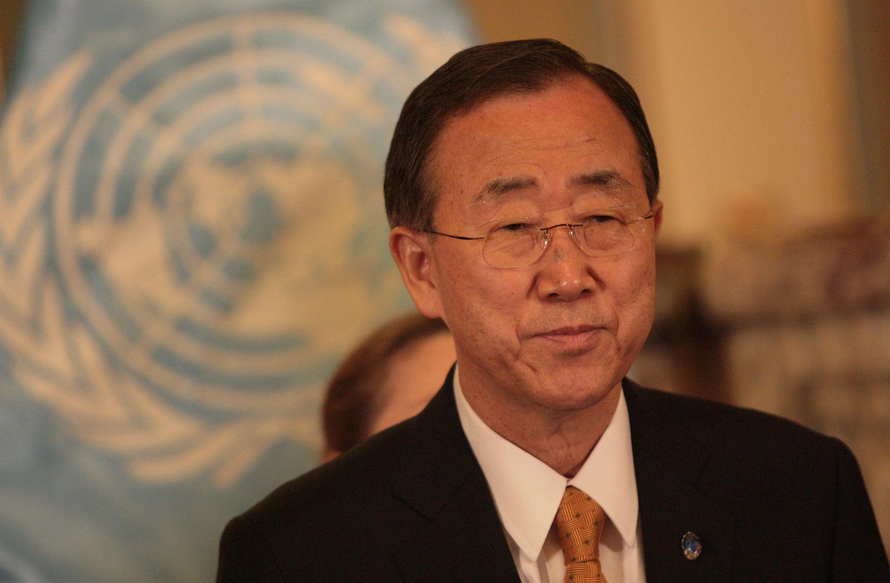 Secretario General de la ONU, Ban Ki-moon. ANDINA/Cesar García