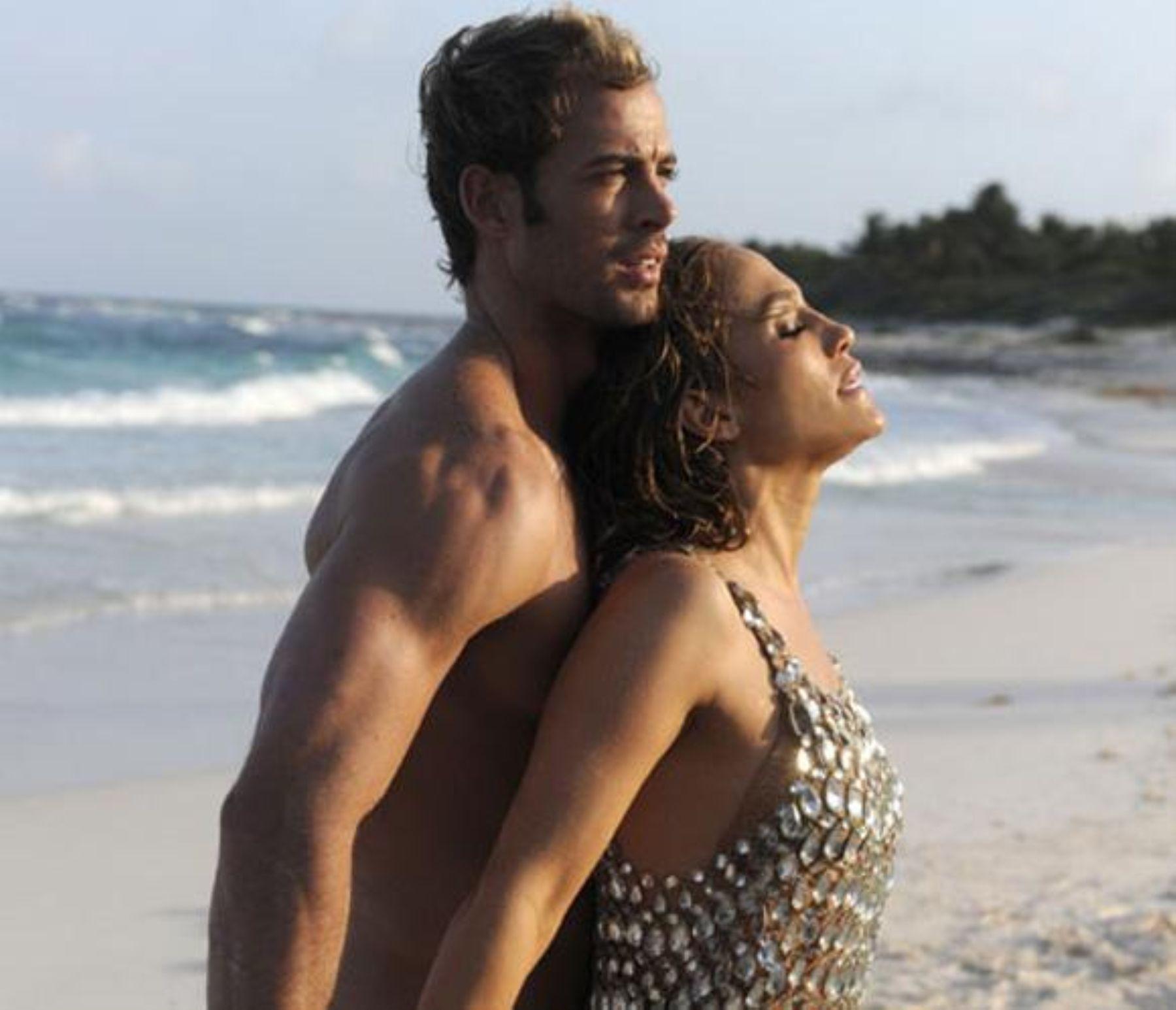 En toda su belleza Jlo junto al cubano William Levy, durante la grabación de su último video clip.