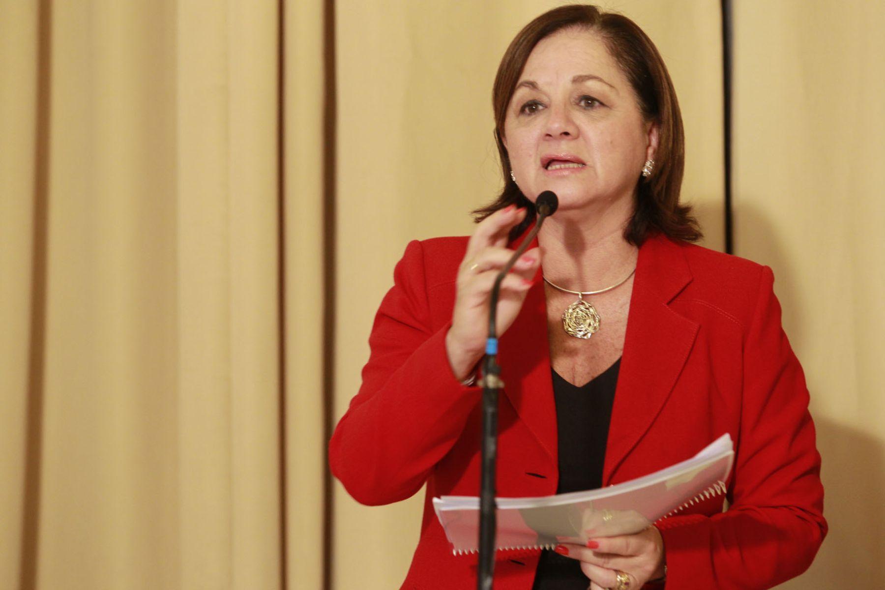 Presidenta del Consejo de Ministros, Rosario Fernández.