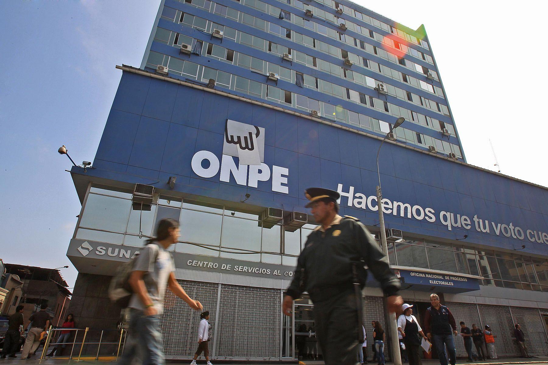 Oficina Nacional de Procesos Electorales (ONPE), en el centro de Lima.Foto: ANDINA/Carlos Lezama