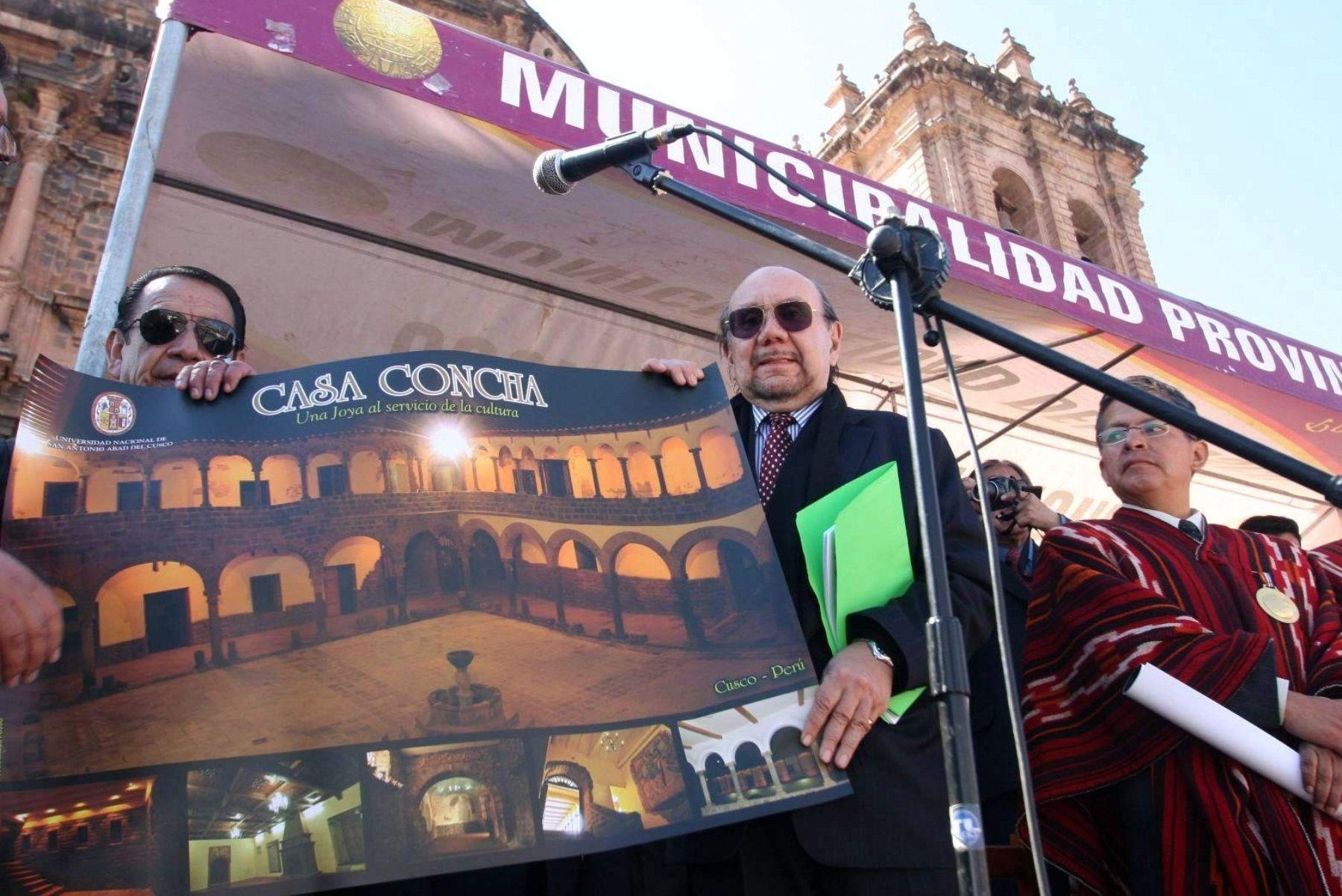 Piezas de Machu Picchu fueron llevadas a Cusco por el ministro de Cultura, Juan Ossio. Foto: ANDINA / Percy Hurtado.