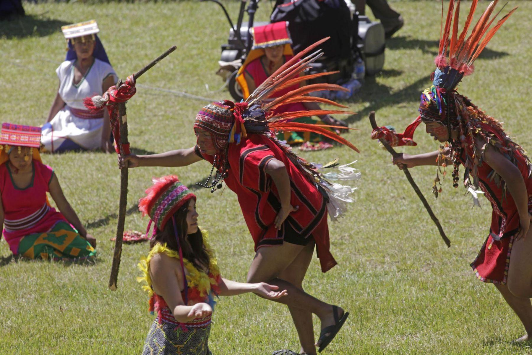 Con la ceremonia incaica denominada Tinkay empezaron esta mañana los festejos por el centenario del descubrimiento científico de Machu Picchu en la propia ciudadela incaica. Foto: ANDINA/Alberto Orbegoso