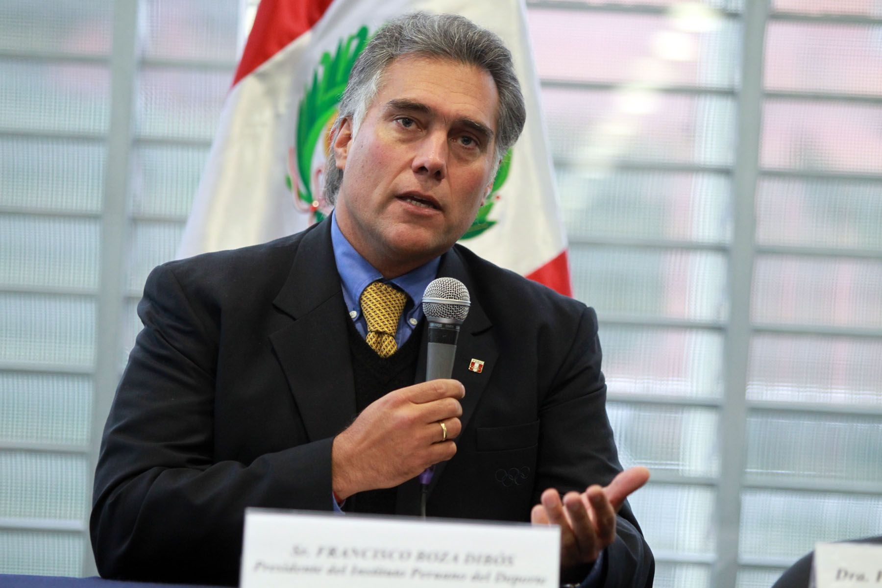 Presidente del Instituto Peruano del Deporte, Francisco Boza. Foto: ANDINA/Carlos Lezama
