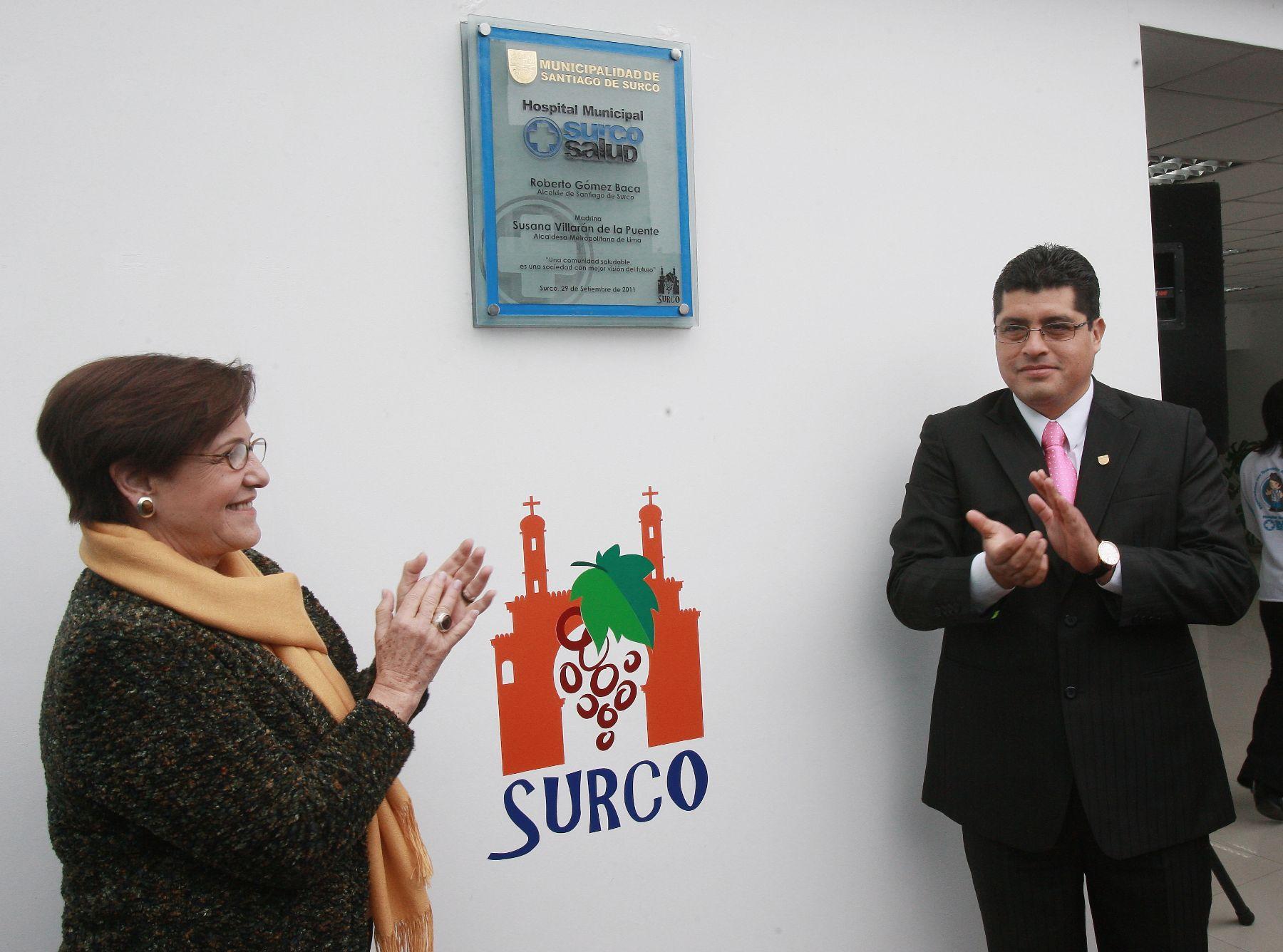 Alcaldesa de Lima, Susana Villarán; y alcalde de Surco, Roberto Gómez, inauguraro primer Hospital Municipal de ese distrito. Foto: ANDINA/Norman Córdova.