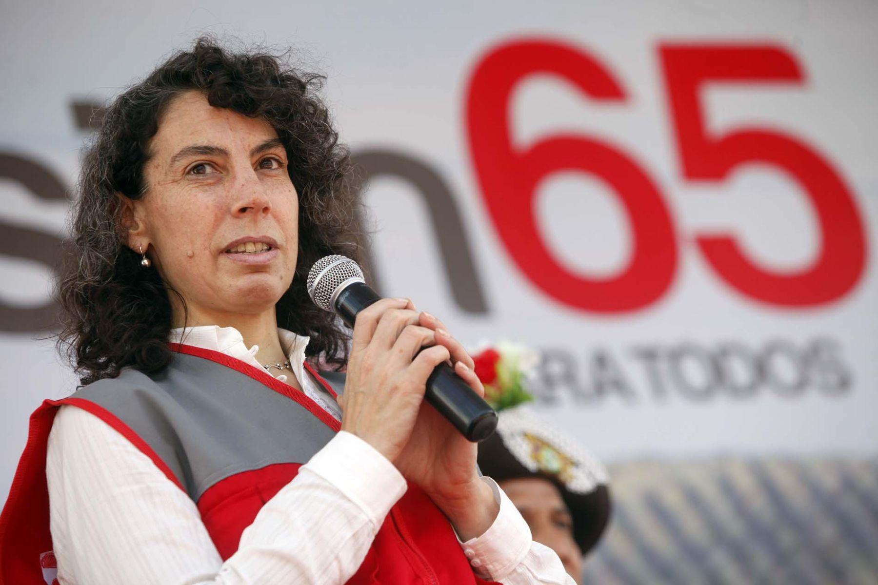 Ministra de Desarrollo e Inclusión Social, Carolina Trivelli. Foto: ANDINA/Luis Iparraguirre
