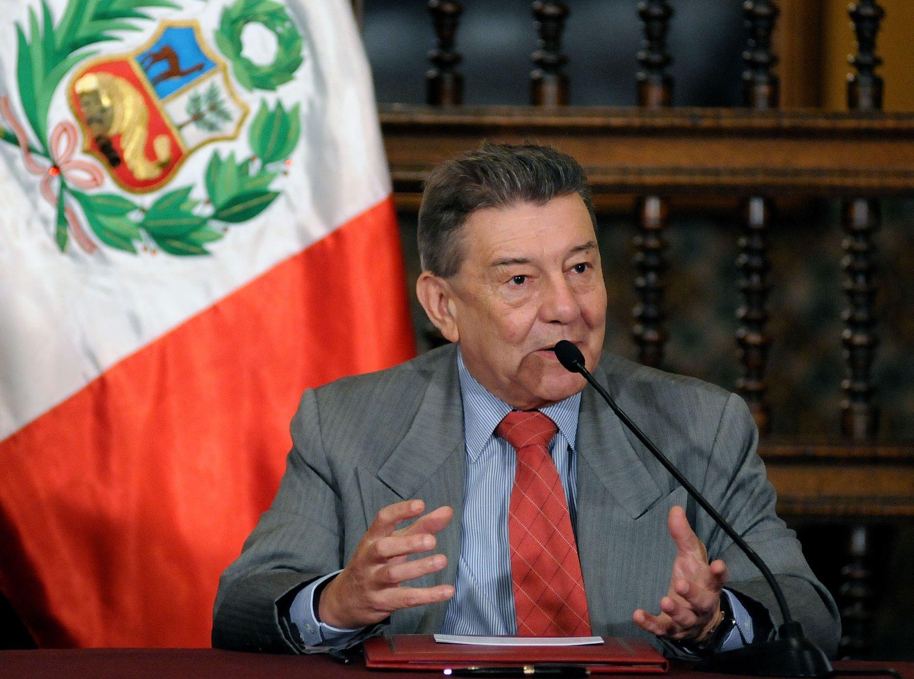 Canciller Rafael Roncagliolo. Foto: ANDINA/Archivo
