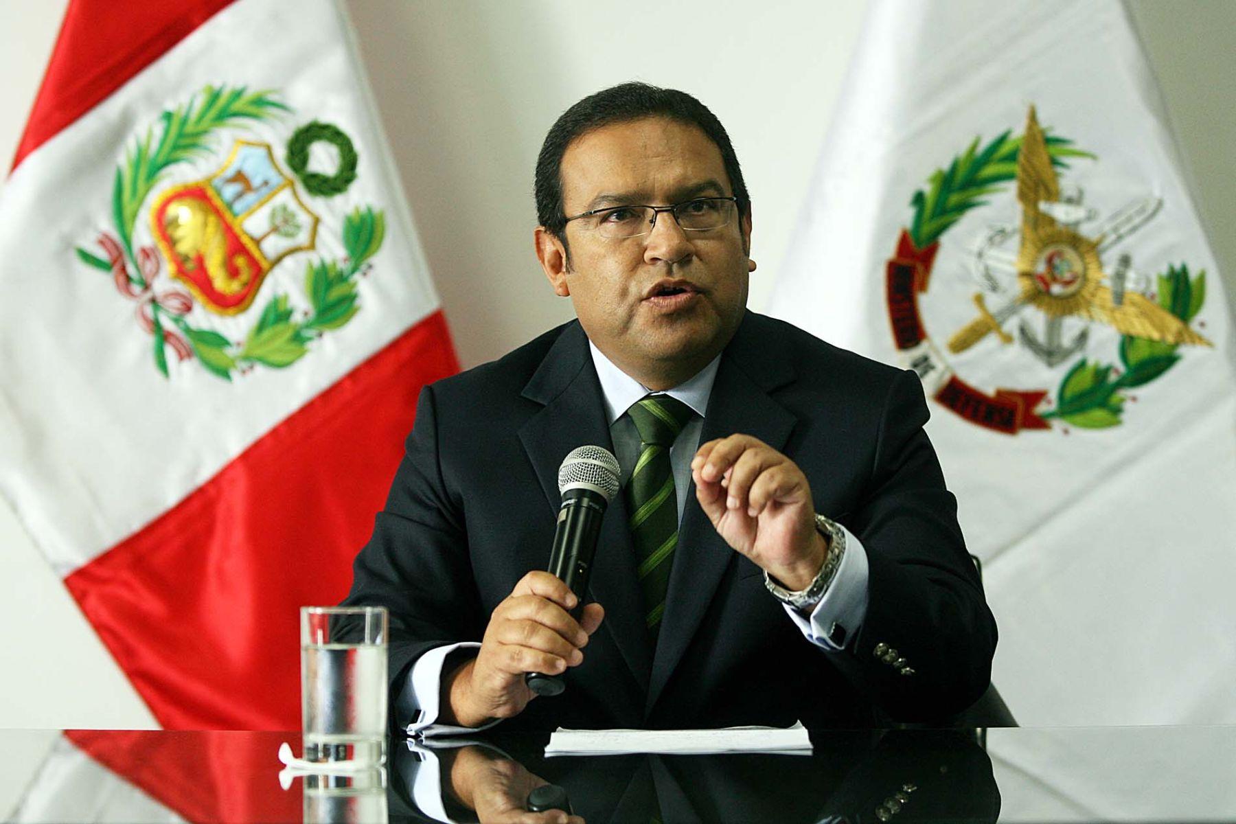 Ministro de Defensa, Luis Alberto Otárola. Foto: ANDINA/Luis Iparraguirre
