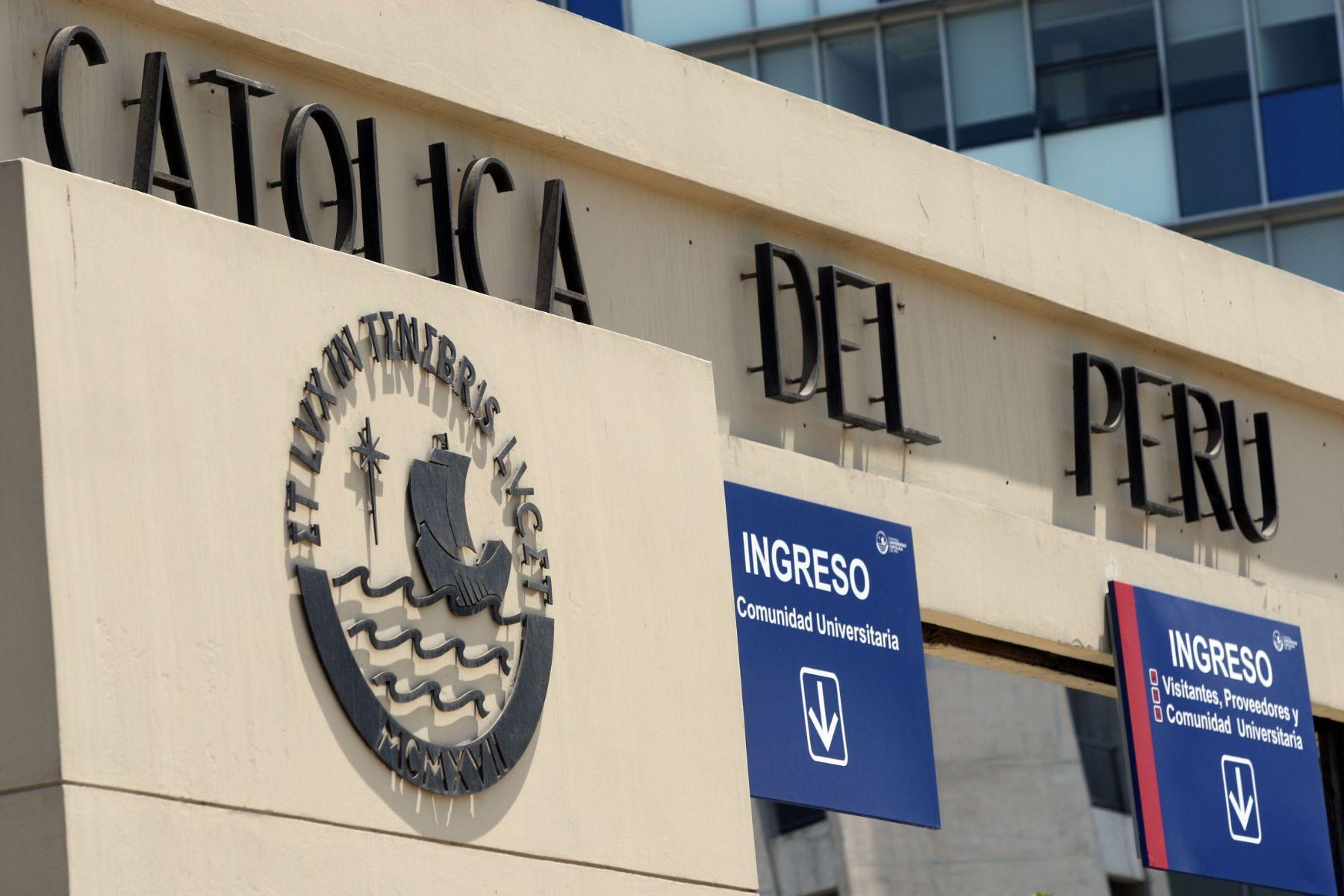 Continúan conversaciones entre la Iglesia Católica y  la  Pontificia Universidad Católica del Perú. ANDINA/archivo