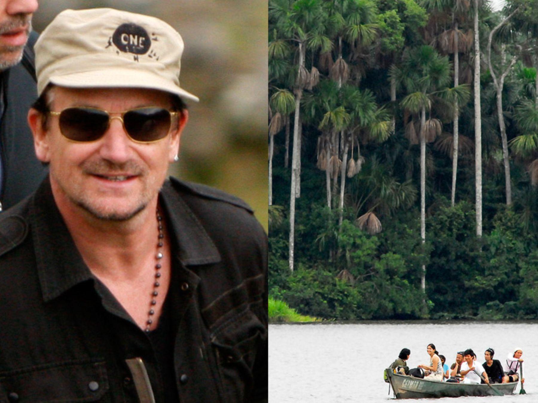 Bono visita reserva nacional en Madre de Dios.  Foto: ANDINA