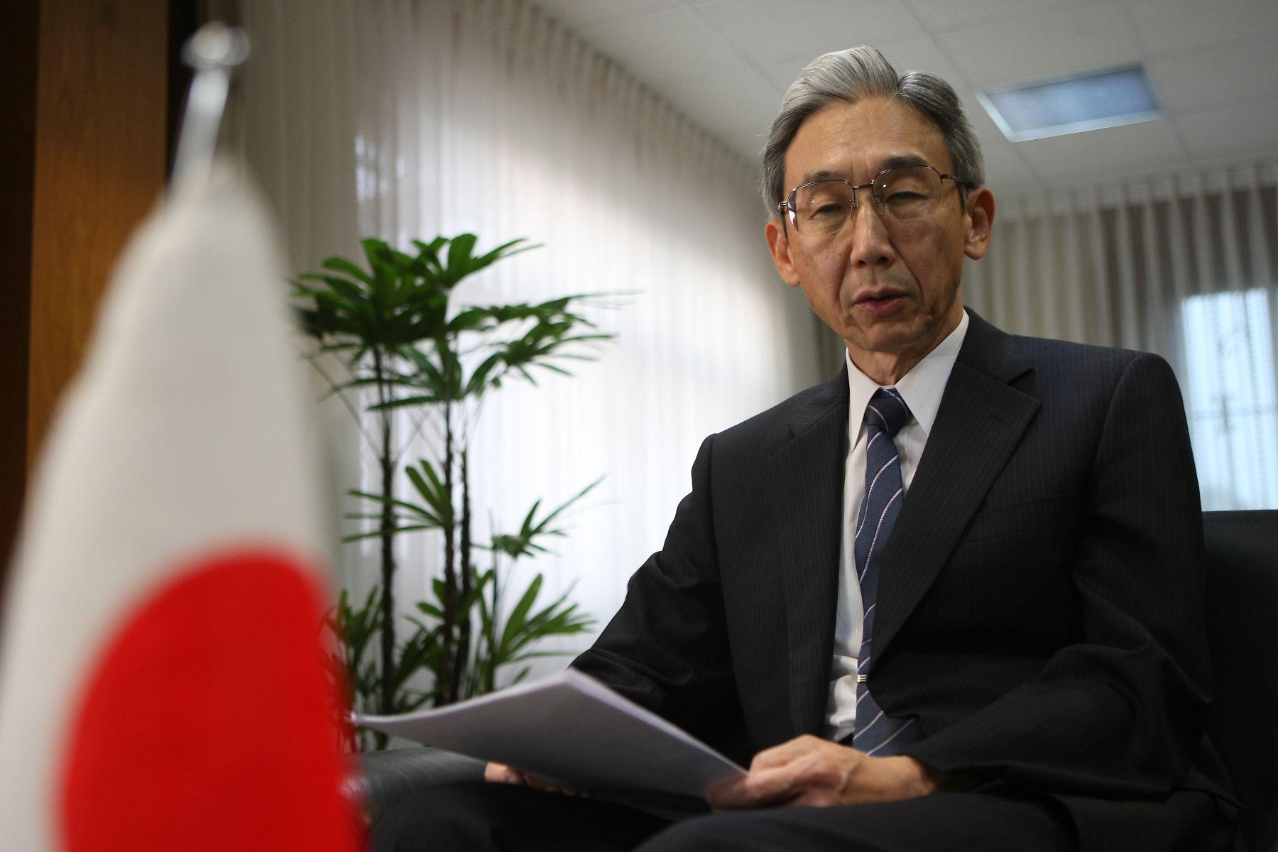 Japanese Ambassador to Peru, Masahiro Fukukawa. Photo: ANDINA/Vidal Tarqui.