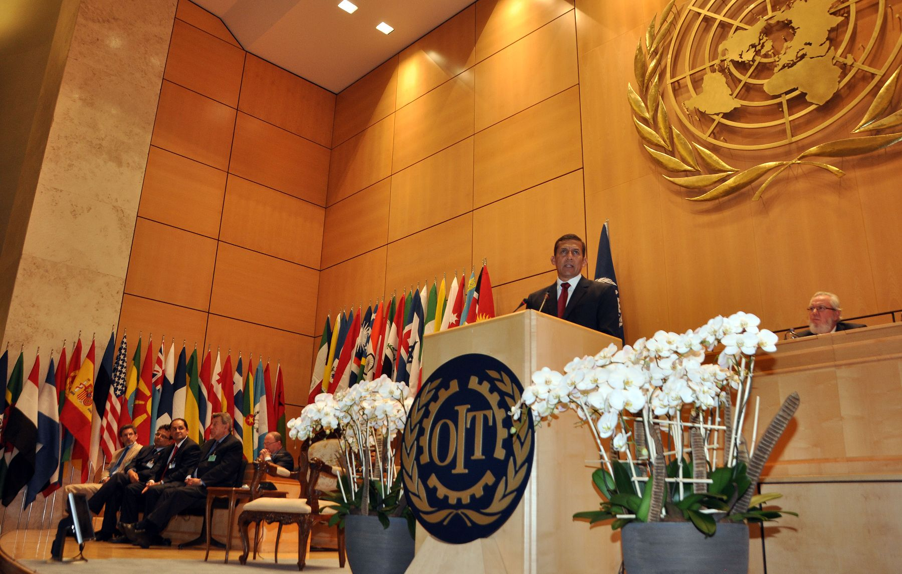 Presidente Ollanta Humala participó en la Asamblea General de la Organización Internacional del Trabajo (OIT), en Ginebra, Suiza. Foto: ANDINA/Prensa Presidencia.