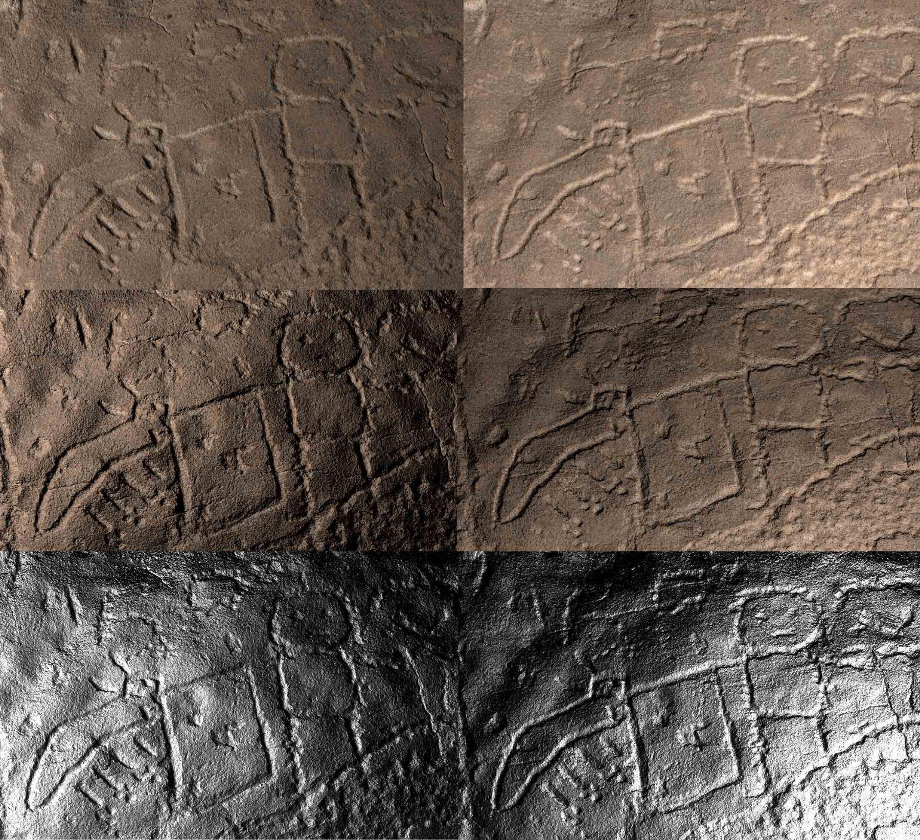 Petroglifos estudiados en Nasca. Foto: ANDINA/Cortesía.
