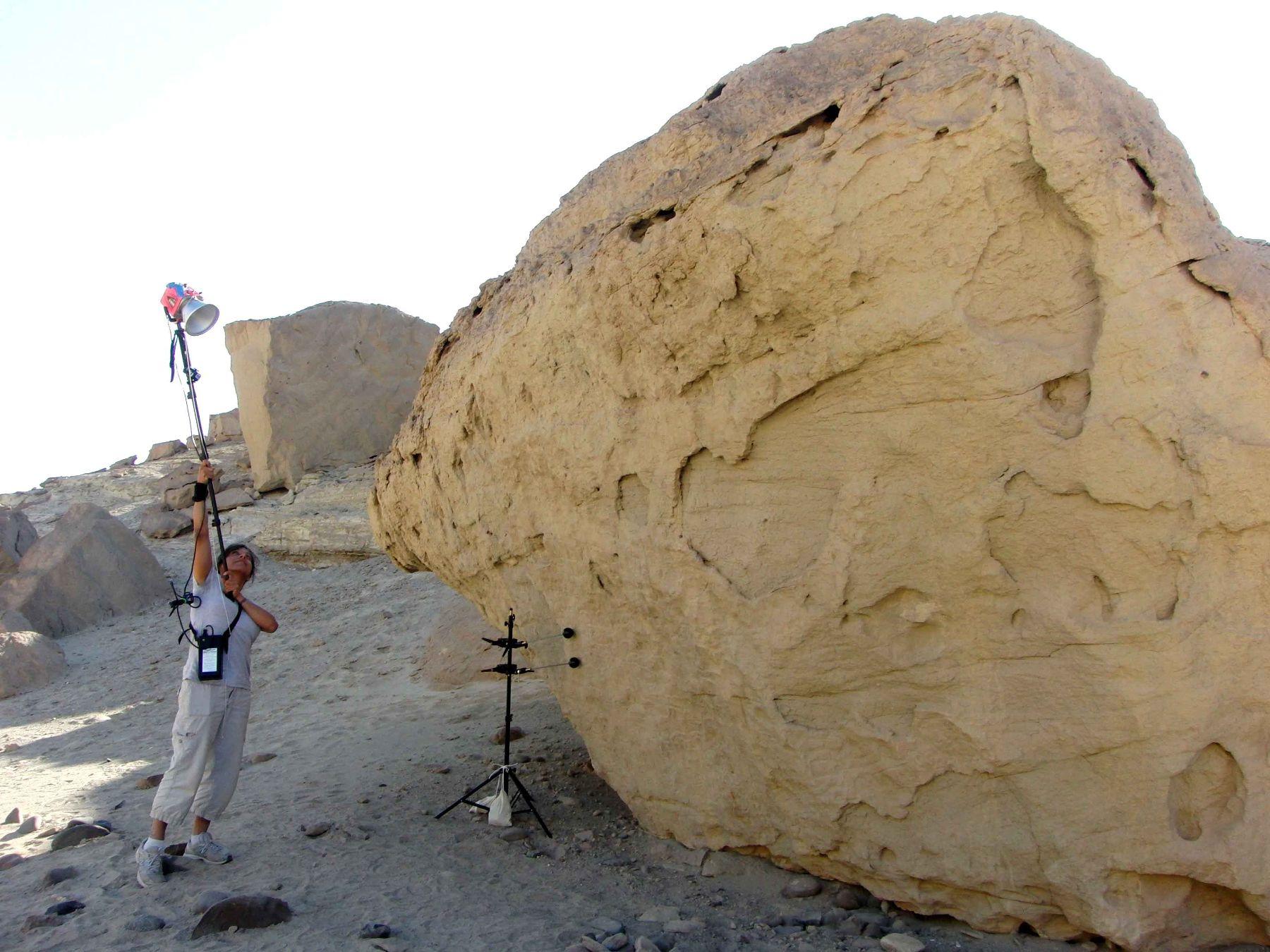 Estudios aplicados en petroglifos de Nasca. Foto: ANDINA/Cortesía.