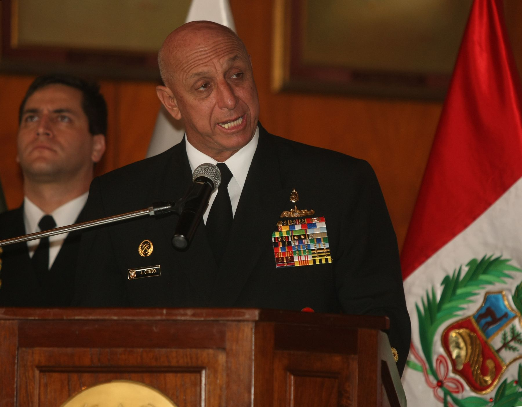 Jefe del Comando Conjunto de las Fuerzas Armadas, José Cueto Aservi. ANDINA/Vidal Tarqui