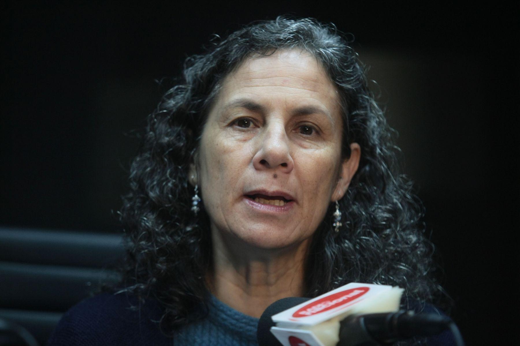 Ministra de Educación, Patricia Salas. Foto: ANDINA/Juan Carlos Guzmán