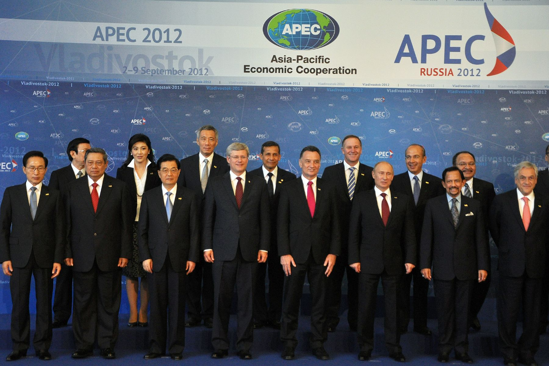 Líderes de APEC 2012. Foto: ANDINA/Prensa Presidencia.