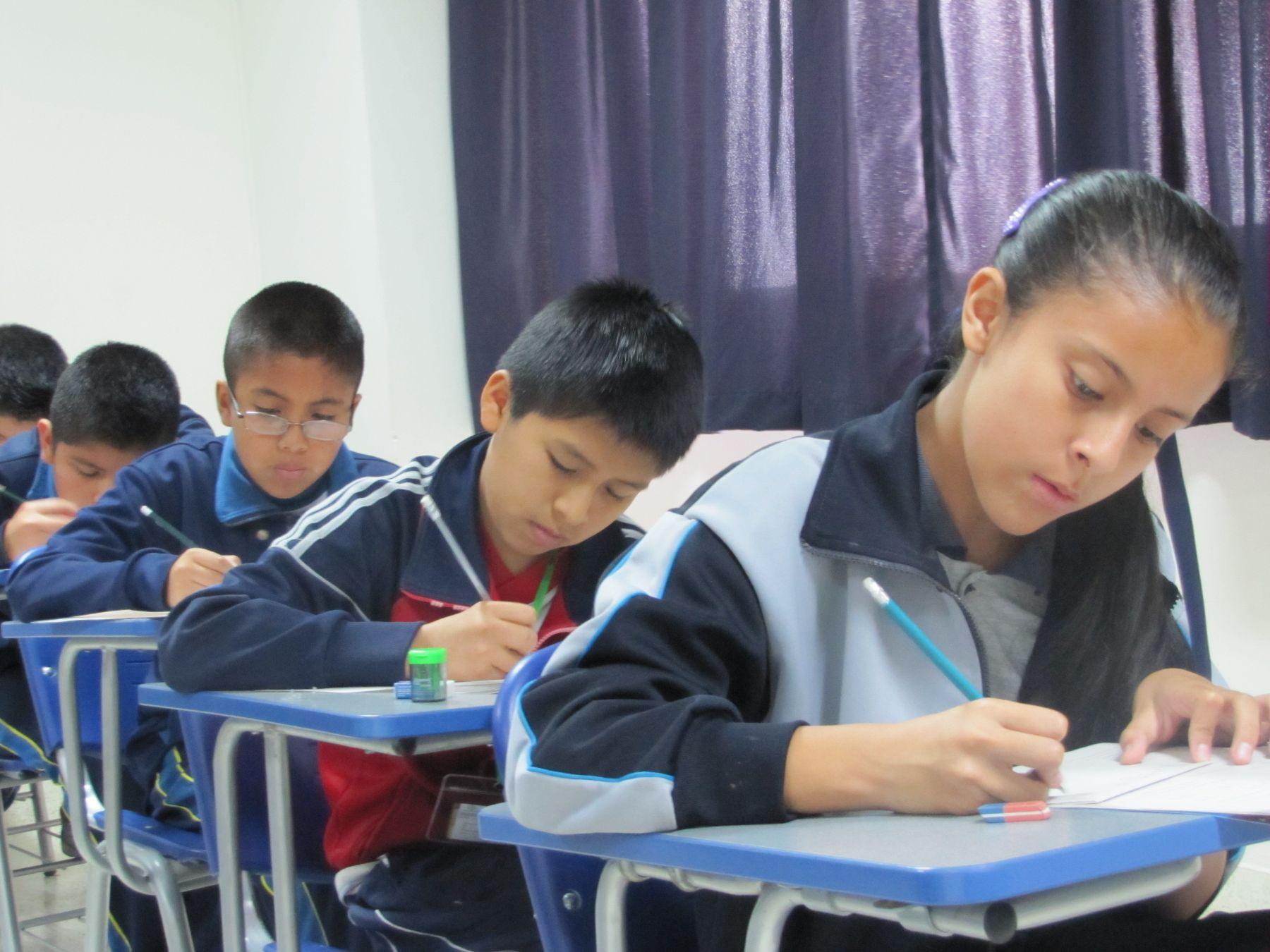 Estudiantes de primaria participarán mañana y el miércoles en evaluación internacional. Foto: ANDINA/Difusión