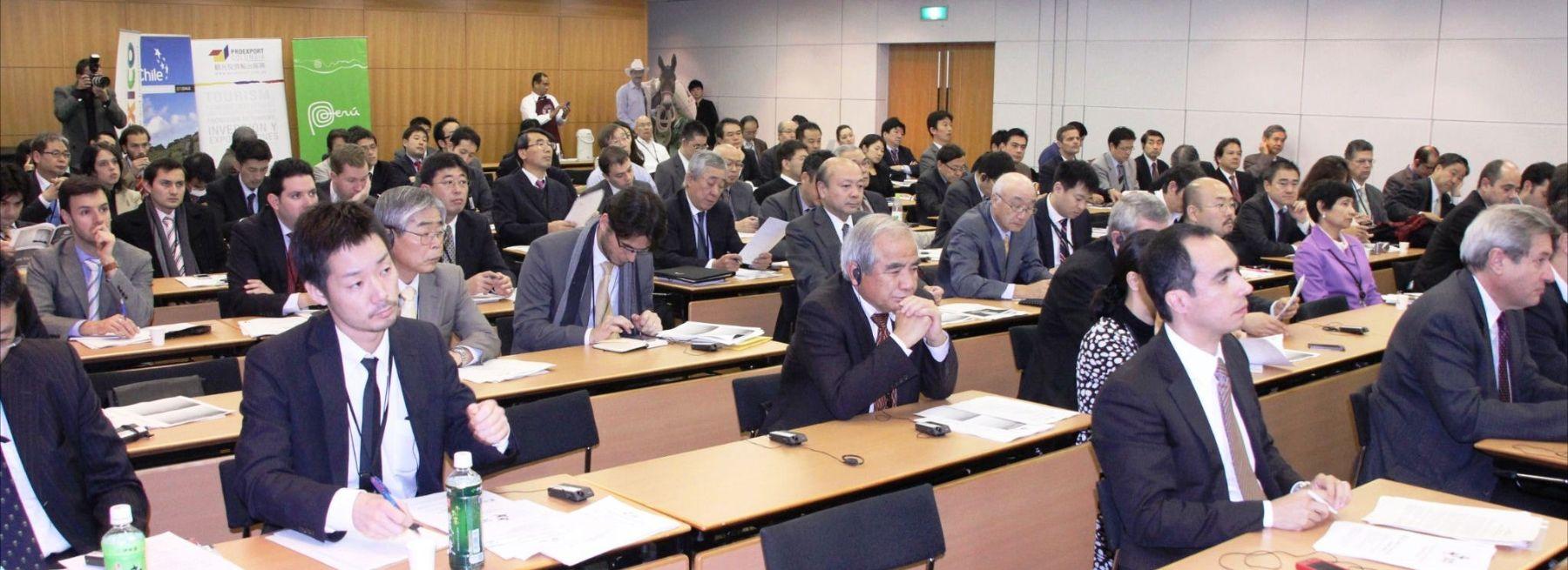 Conferencia La Alianza del Pacífico: Oportunidades para los negocios en Japón, realizada en Tokio.