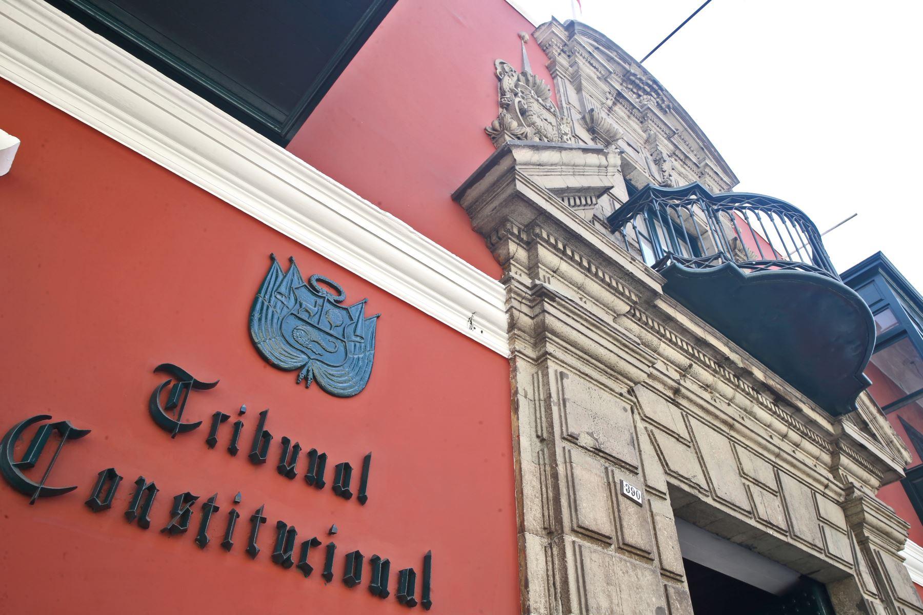 Tribunal Constitucional. Foto: ANDINA/Oscar Farje