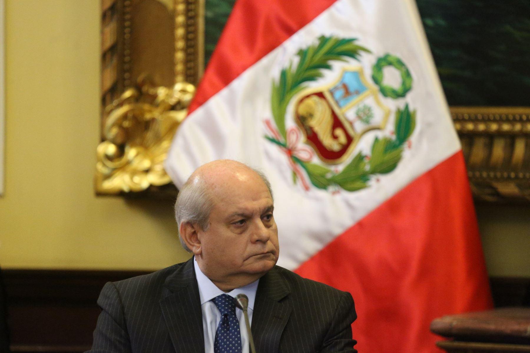 Jefe del Gabinete Ministerial, Pedro Cateriano.
