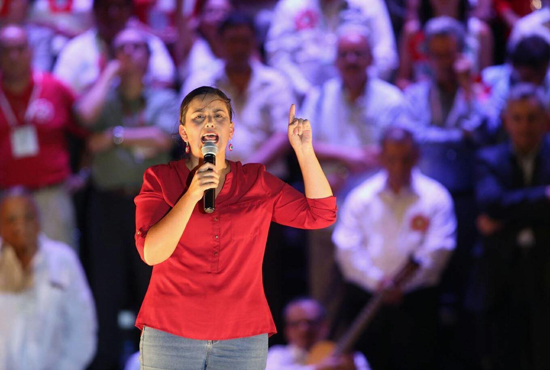 Verónika Mendoza, excandidata a la Presidencia de la República en las elecciones del 2016. Obtuvo más de 2 millones 800 mil votos. Se prepara para participar en los comicios del 2021. ANDINA/ Juan Carlos Guzman