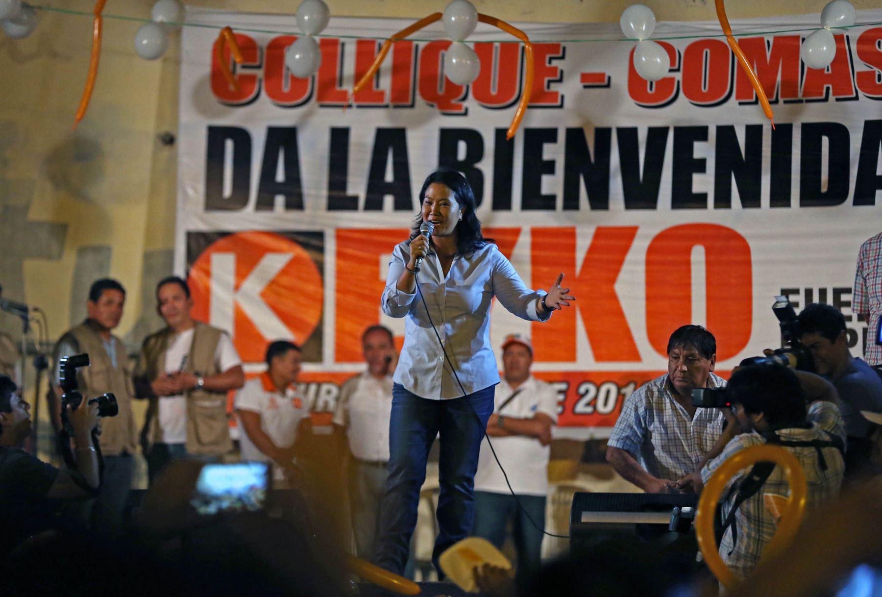Keiko es la mayor de los cuatro hermanos Fujimori Higuchi, mientras que Kenji el último del clan. Los dos fueron los parlamentarios más votados del fujimorismo el 2006 y 2011, respectivamente. Foto: ANDINA/Vidal Tarqui