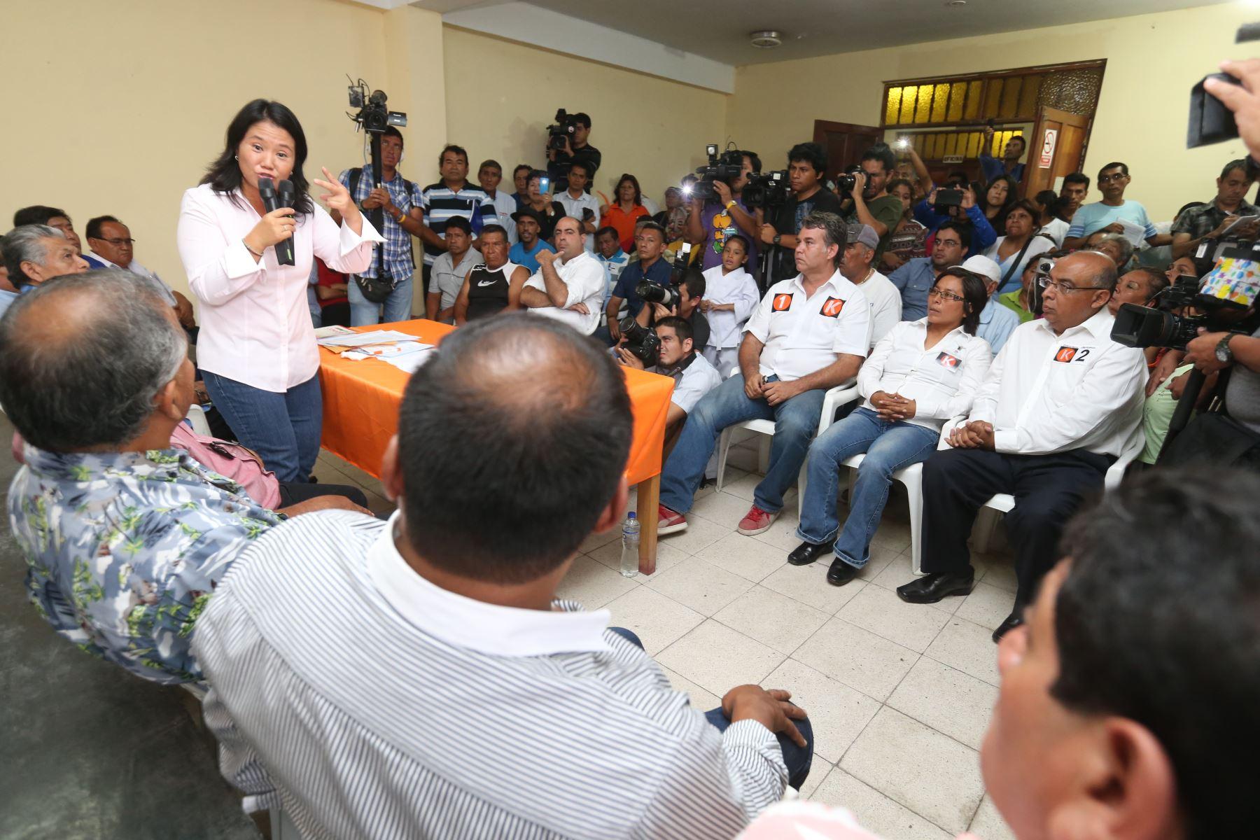 Keiko Fujimori dijo que le desea suerte a Keji en su decisión de acercase al Gobierno, e indicó que su carta de renuncia a Fuerza Popular fue aceptada.Foto: ANDINA/archivo.