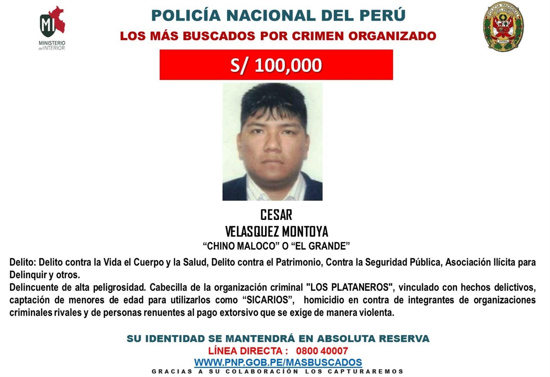Difunden segunda lista de delincuentes m s buscados por for Ministerio del interior telefono informacion