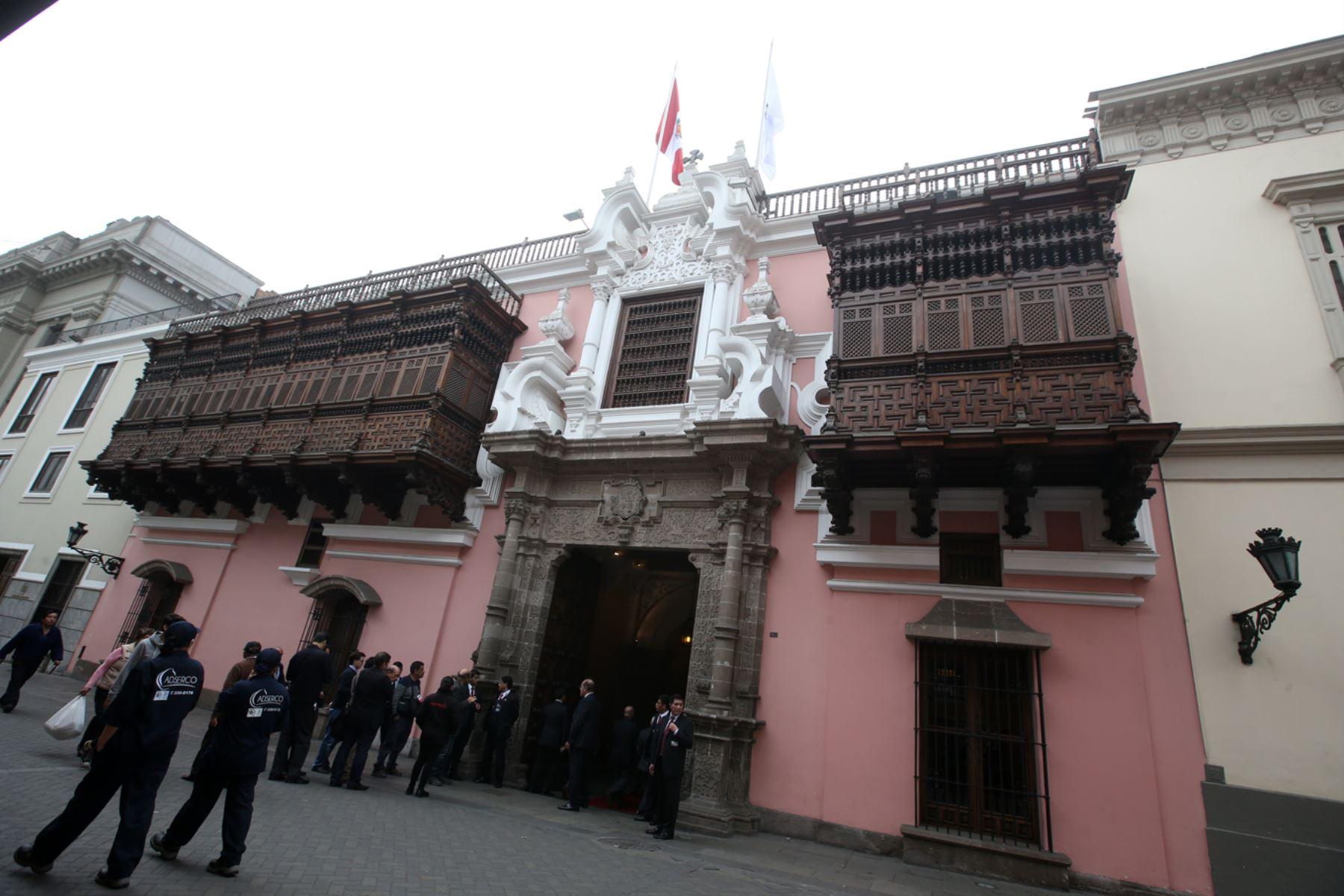 Fachada Cancillería.  Foto: Andina / Juan Carlos Guzmán Negrini.