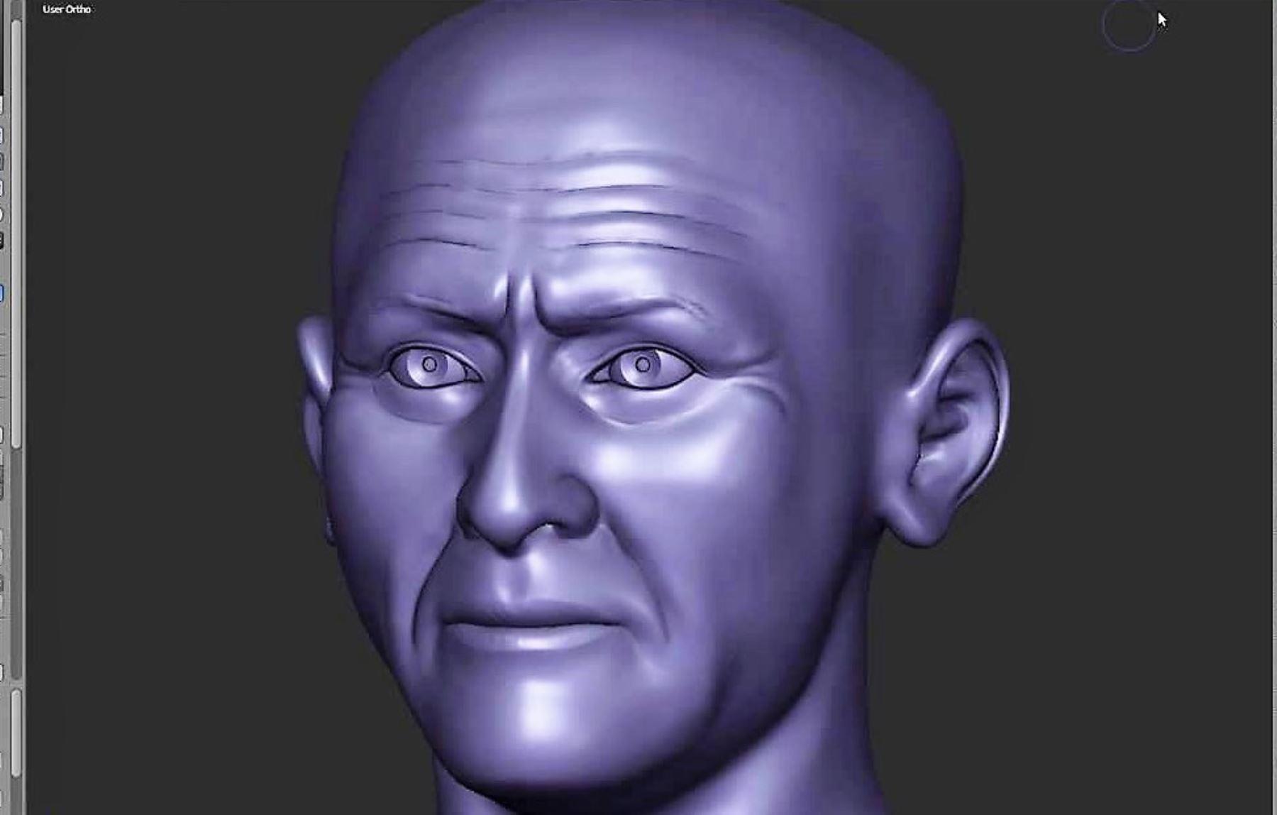 Expertos logran recrear el rostro del Señor de Sipán.