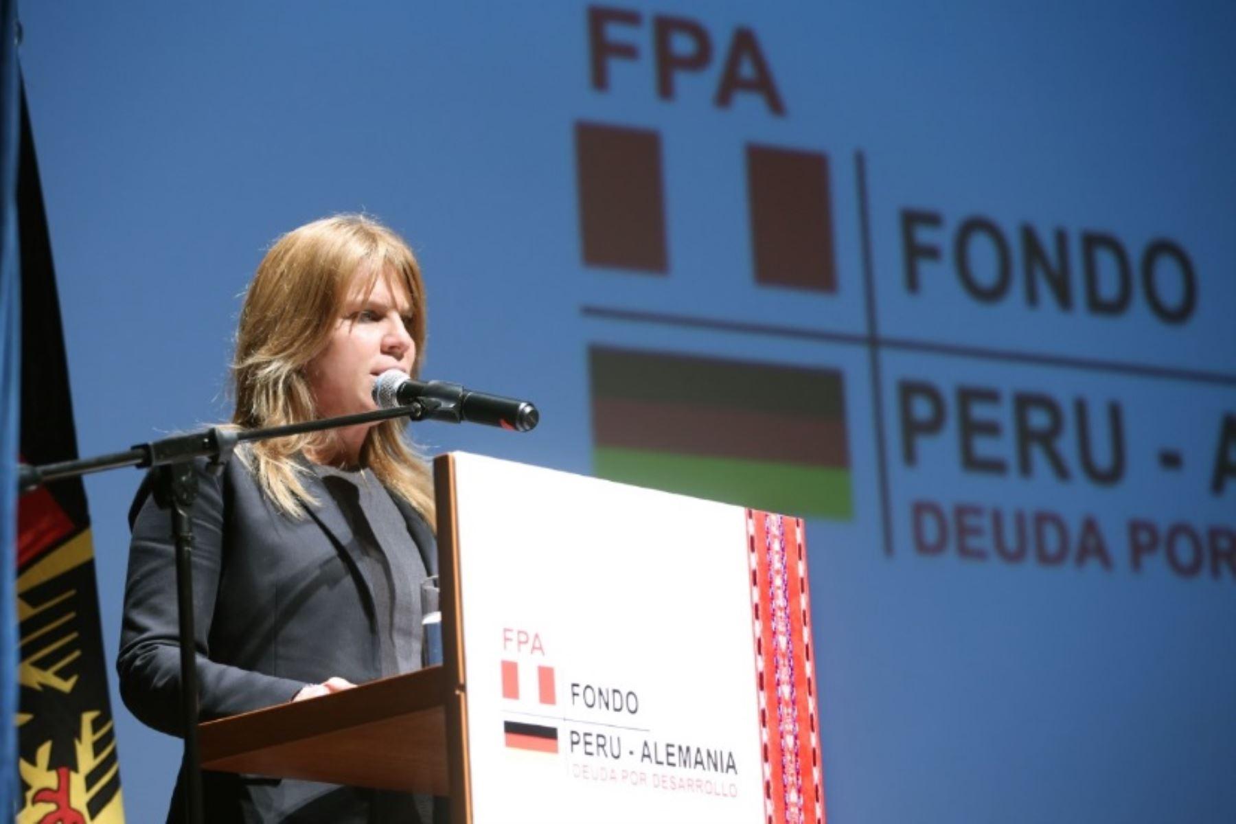 Gracias a la operación del Fondo Contravalor Perú-Alemania, más de 500,000 peruanos y peruanas de las zonas rurales de nuestro país han mejorado su calidad de vida, destacó la Ministra de Desarrollo e Inclusión Social, Cayetana Aljovín.
