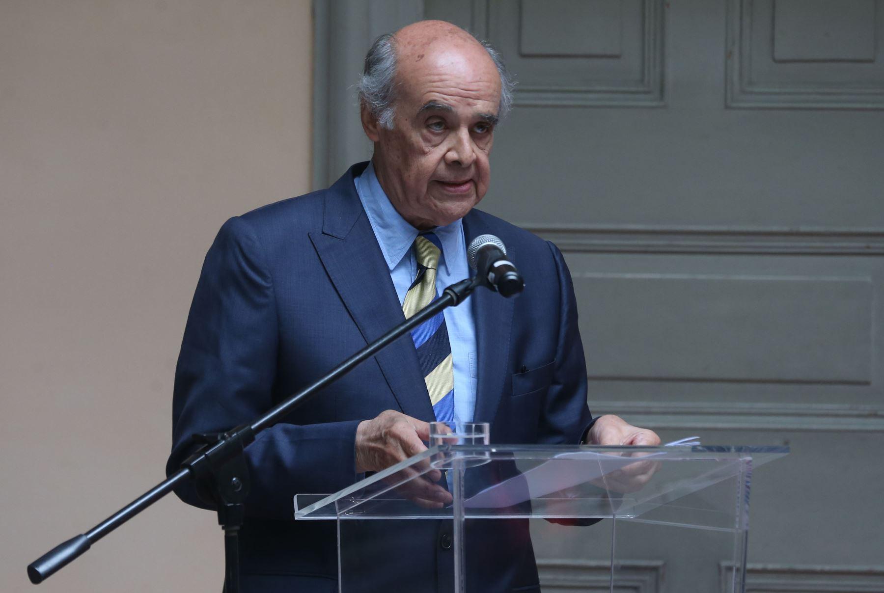 LIMA,PERÚ-OCTUBRE 24. Ministro de Relaciones Exterior Ricardo Luna en ceremonia  conmemorativas por el 71 aniversario de la organización de las Naciones Unidas Foto: ANDINA/Vidal Tarqui