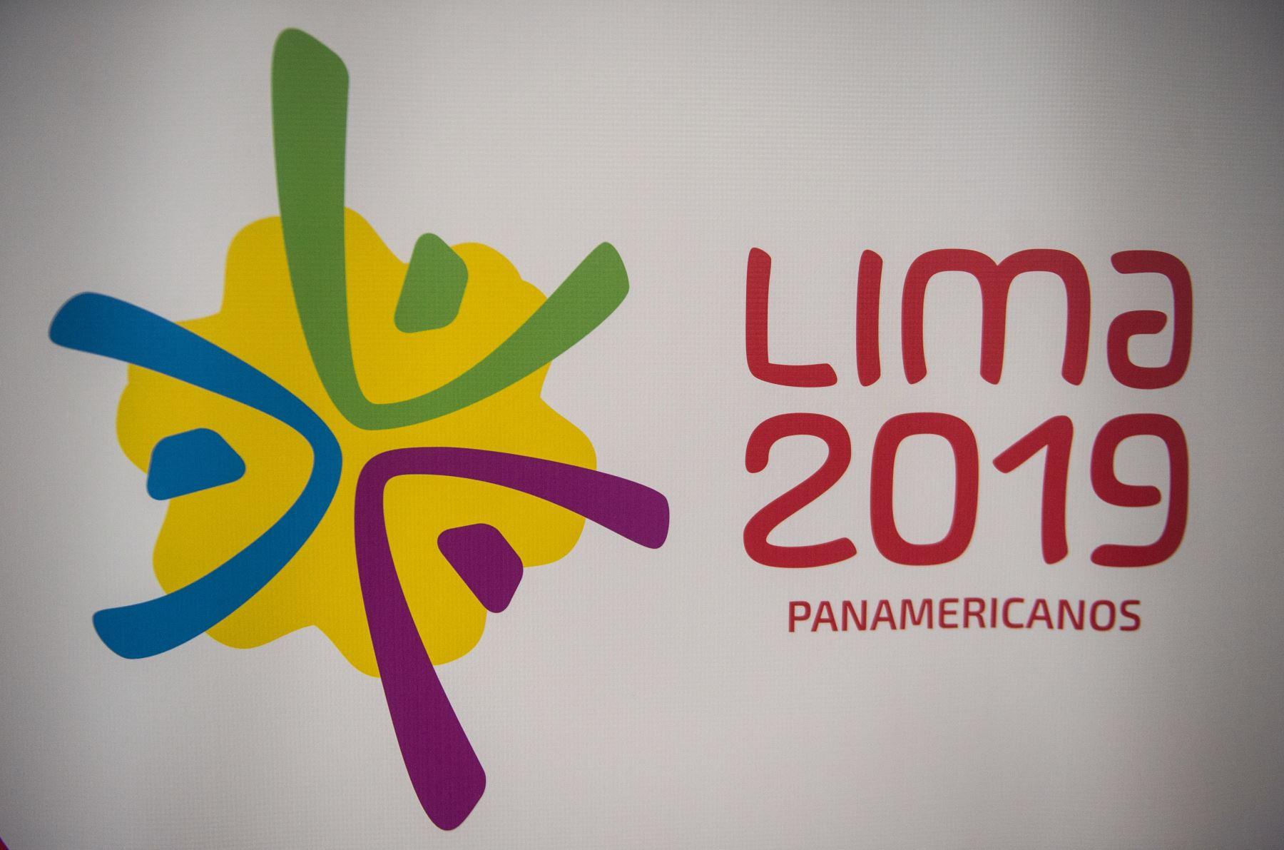 Logo oficial de los Juegos Panamericanos Lima 2019. AFP