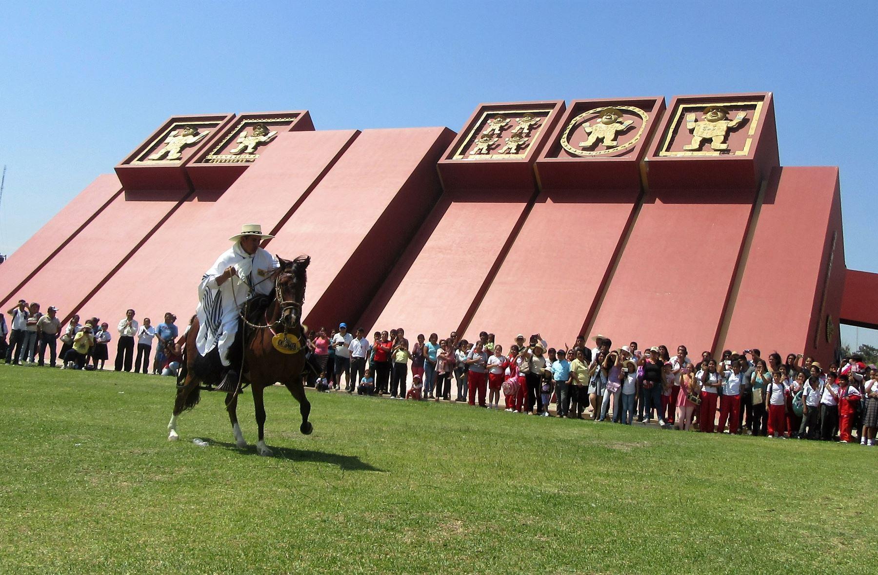 Con diversas actividades artísticas y culturales, el museo Tumbas Reales de Sipán, en Lambayeque, celebra su aniversario. ANDINA
