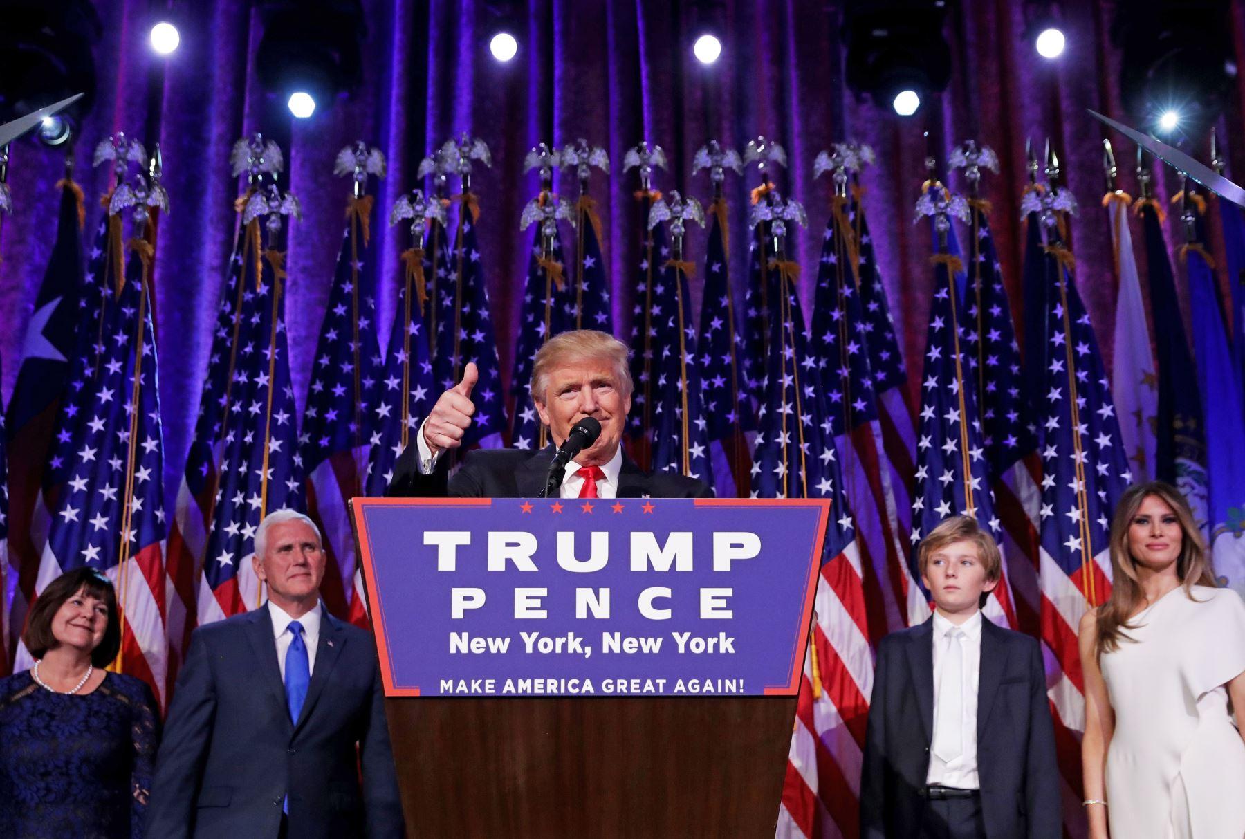 Donald Trump consiguió los 288 votos del colegio electoral y ganó la presidencia de los Estados Unidos. Foto: AFP